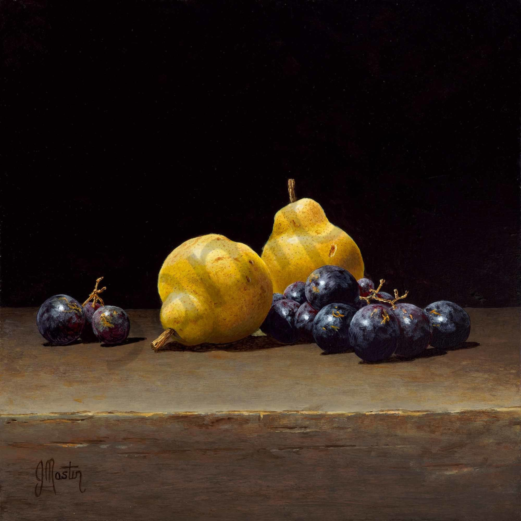 Ian mastin 006 still life with pears and grapes 2000px yftqgz
