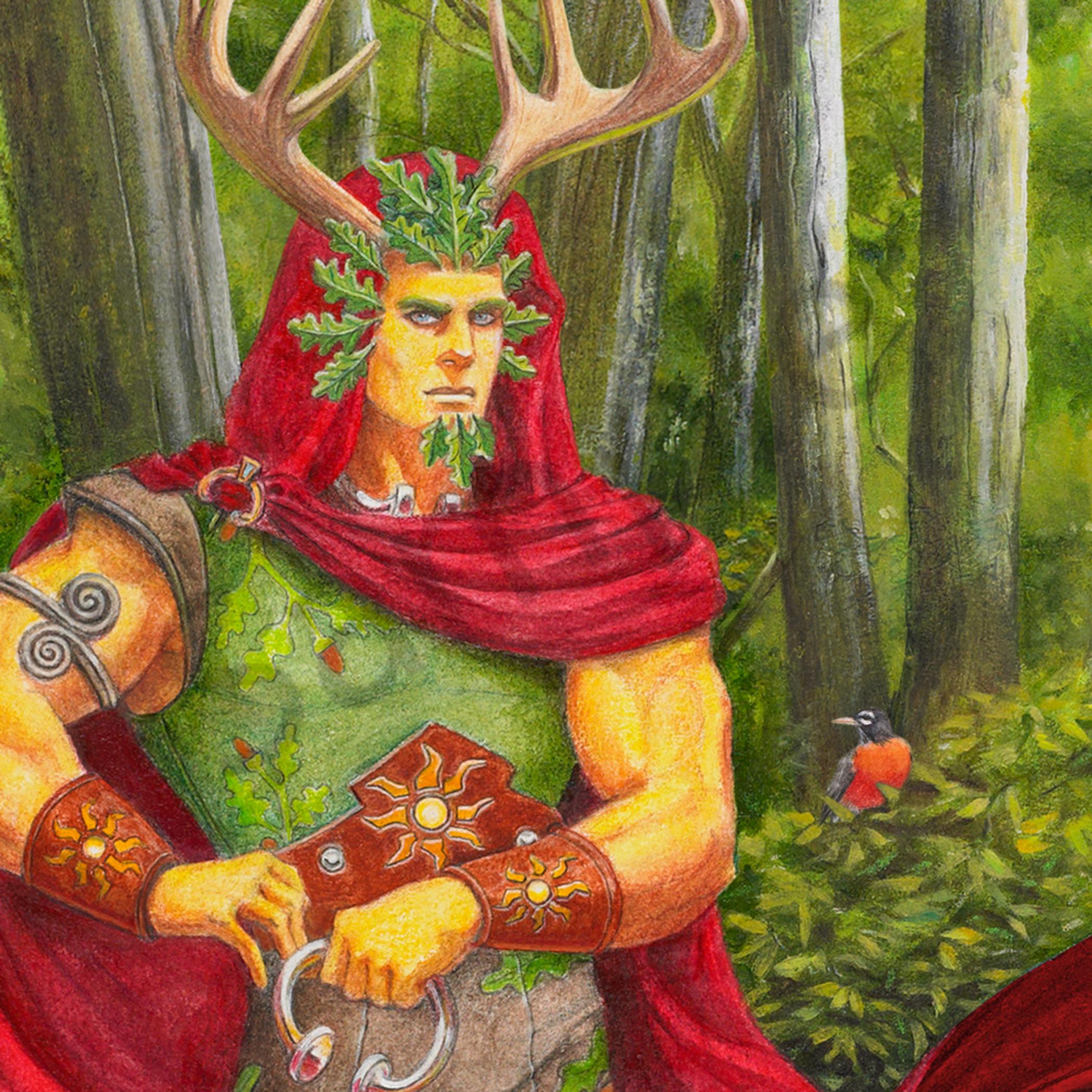 Oak king portrait rhxuvh