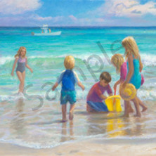 Kids at the beach ncwa5z