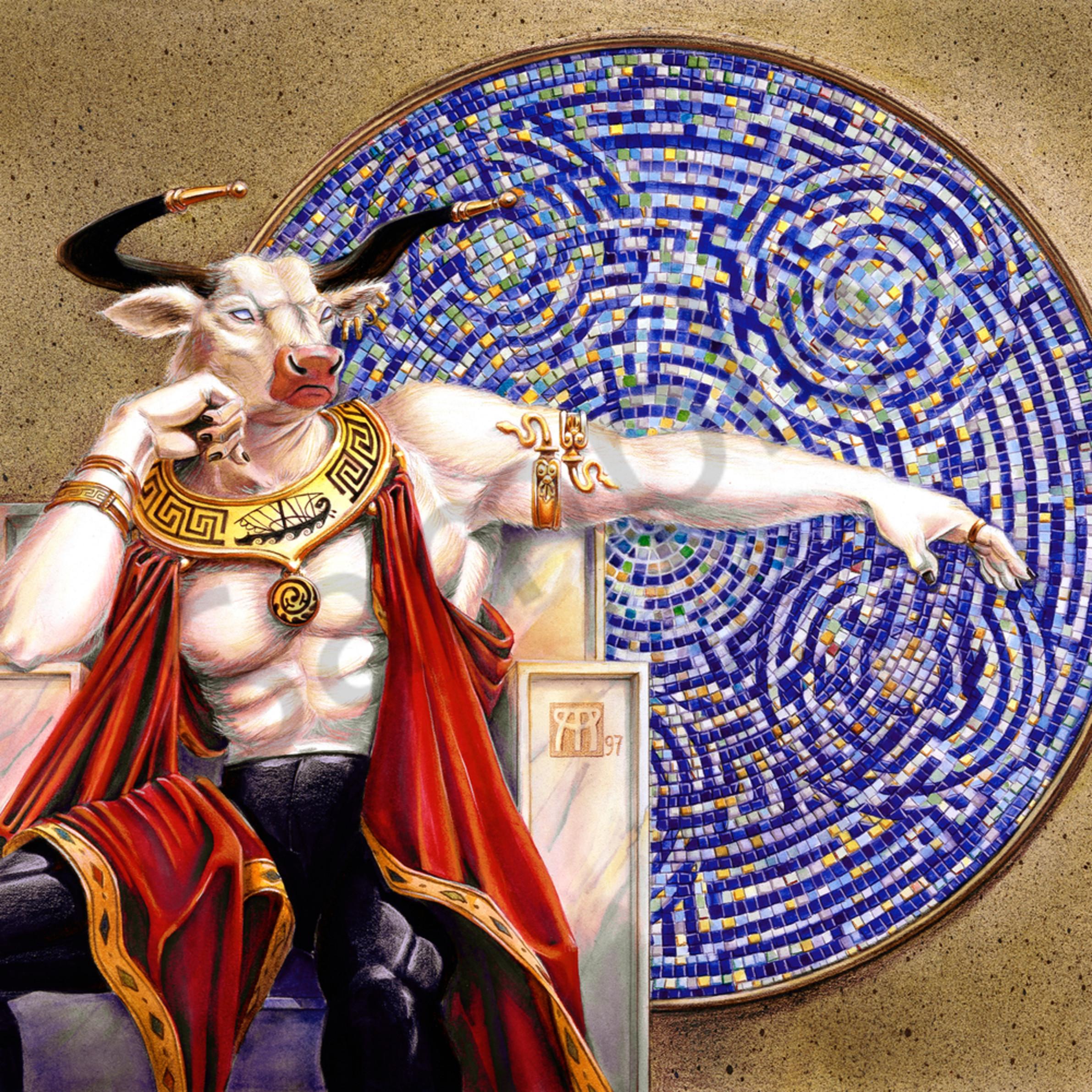 Minotaur with mosaic oj9oem