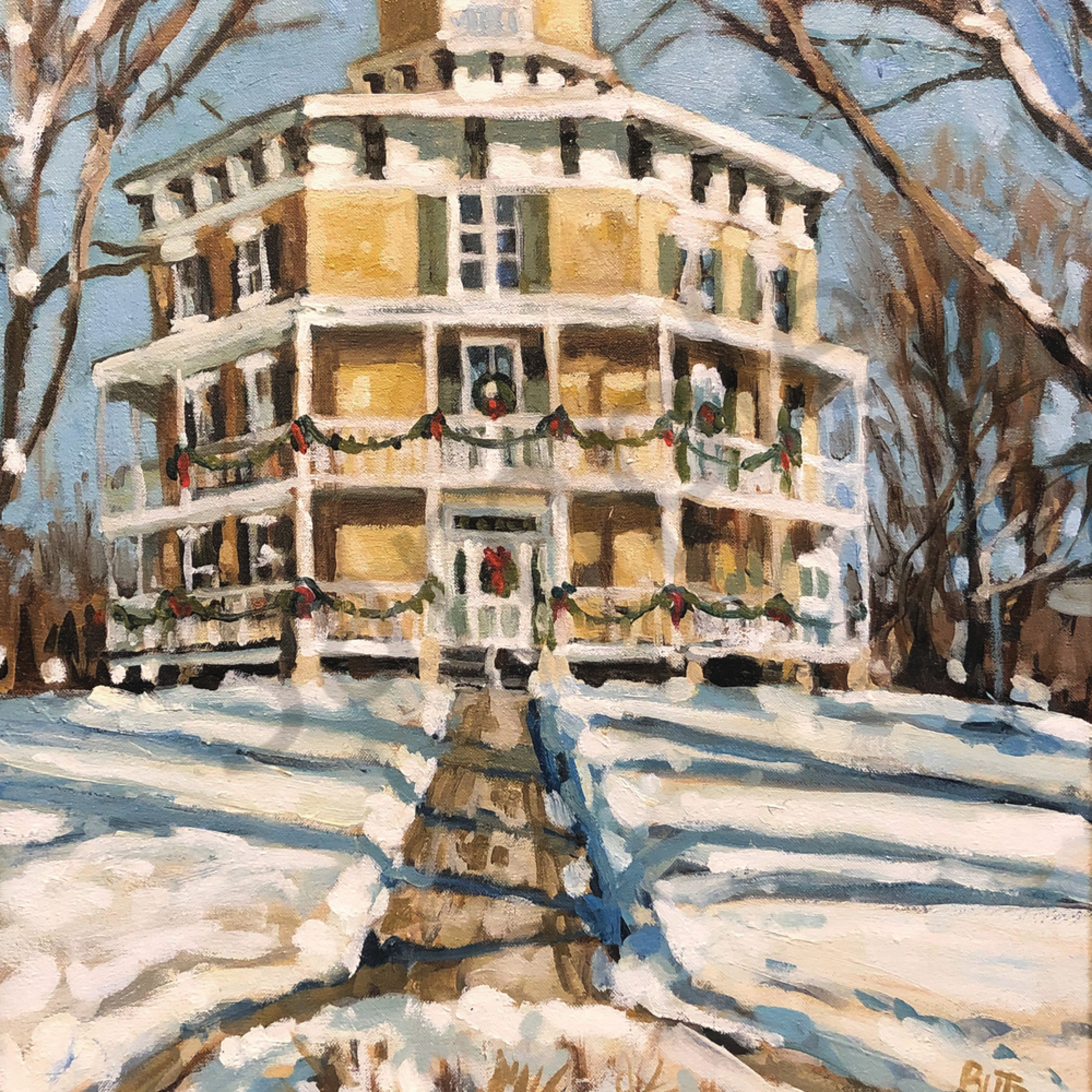 Octagon house in winter8x10 bvoqie