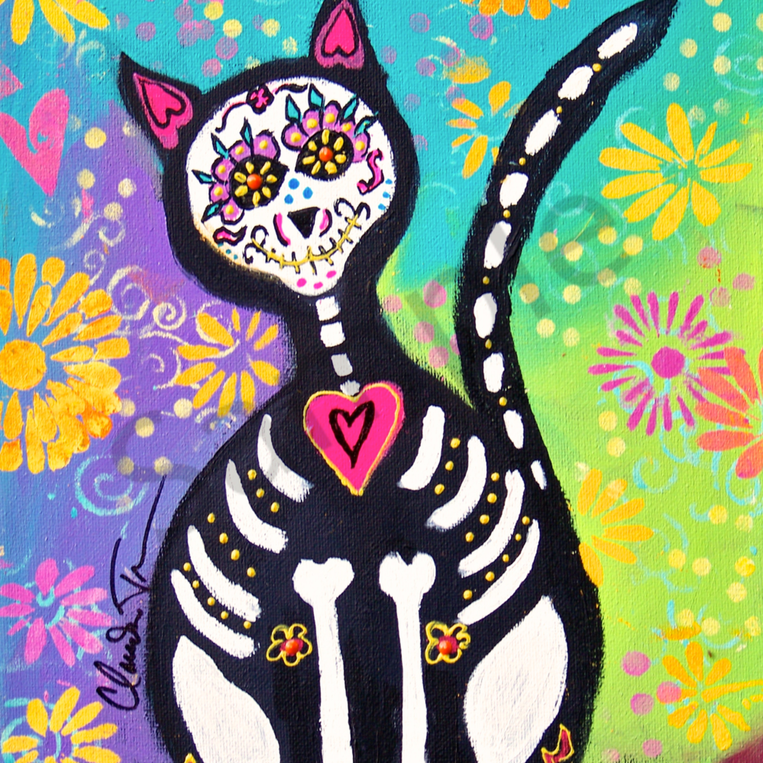 Day of the dead cat 1 luhew6