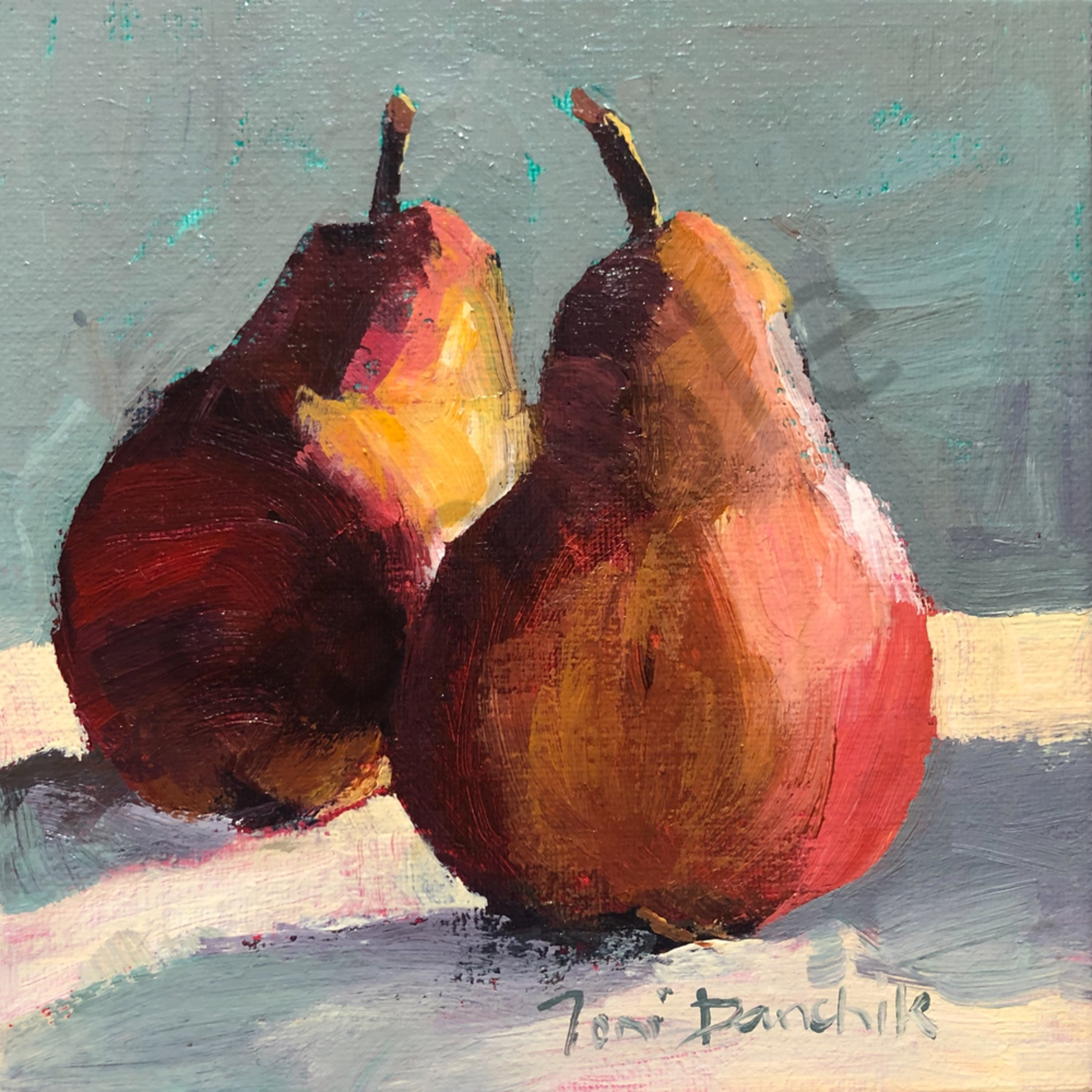 18   two pears 4 x 4 acrylic jvdvv6