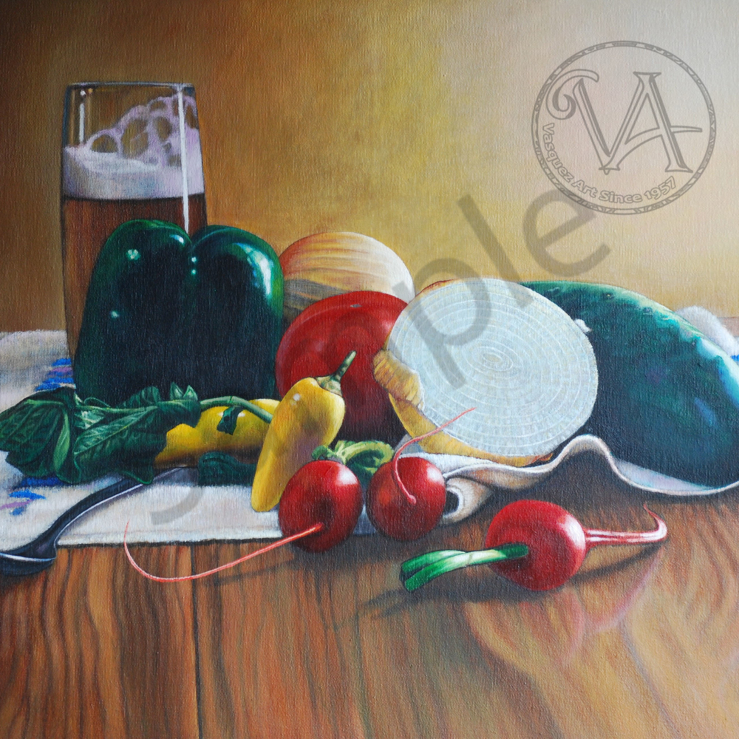 Beer and vegetables still life pnlvij