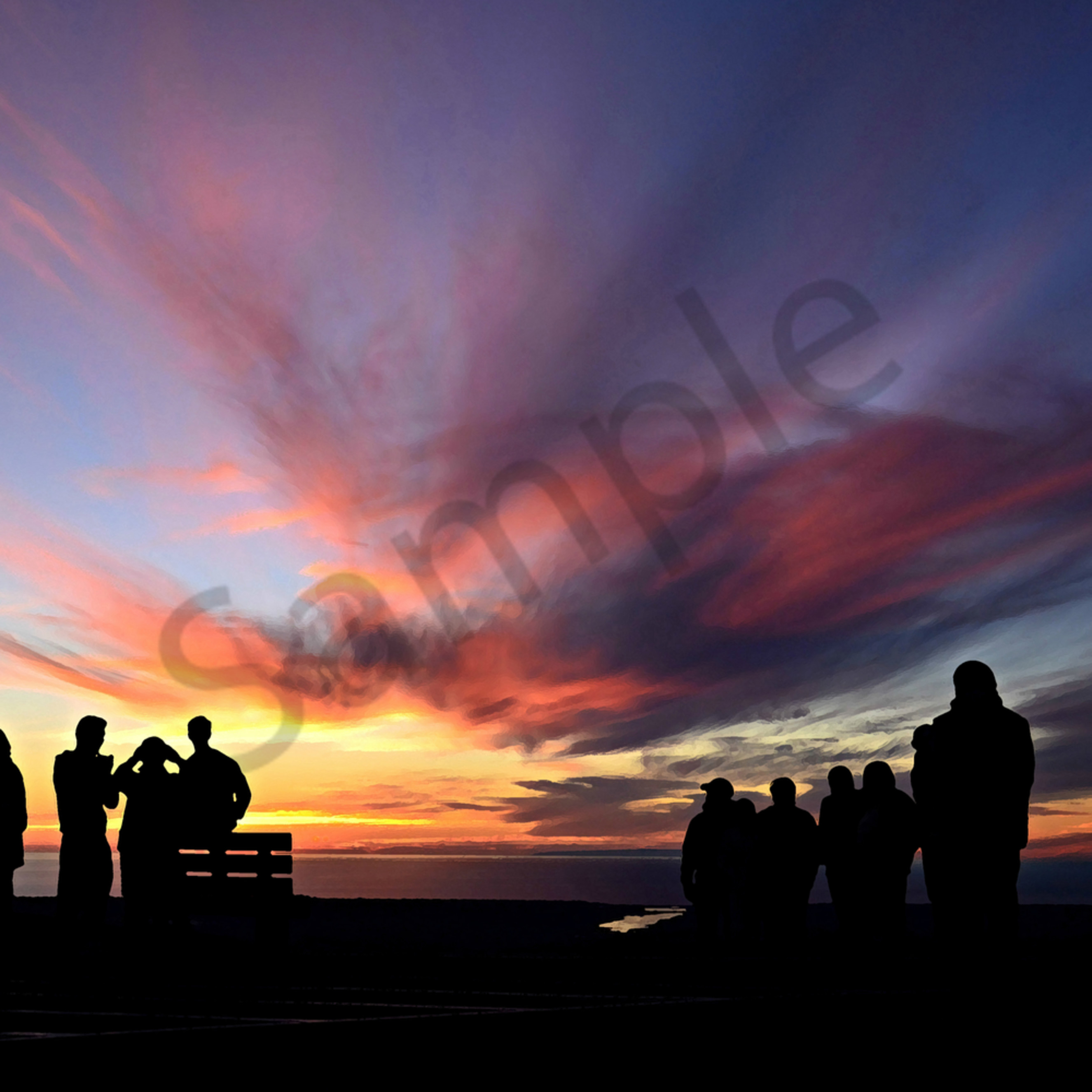 Dsc 8905   see how precious people are...   double peak park silhouette san diego   rmv blur shc   ps dry brush   tag ig5c5z