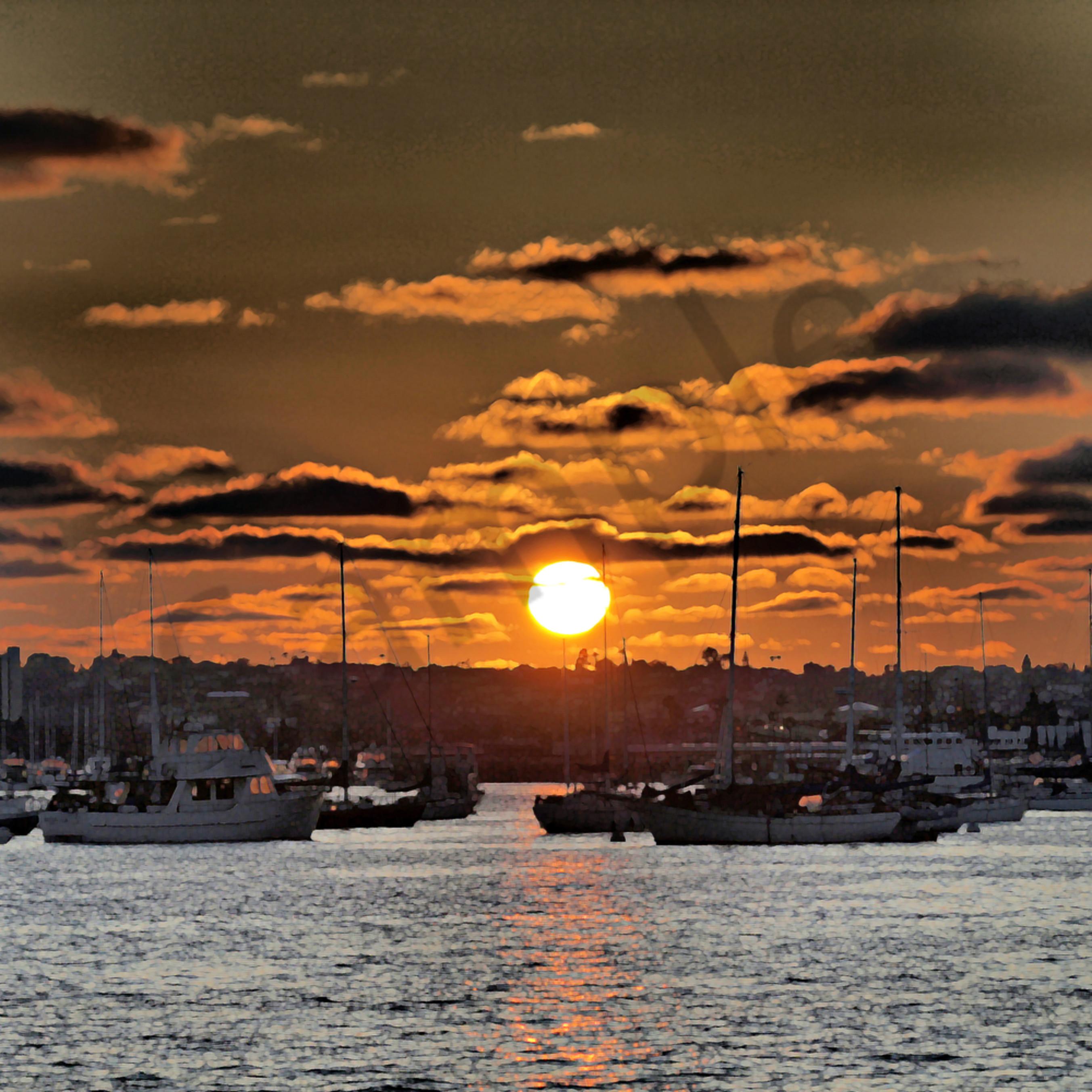 P8087022   san diego bay sunset 2 2010   clarity   ps paint daubs x8mxea
