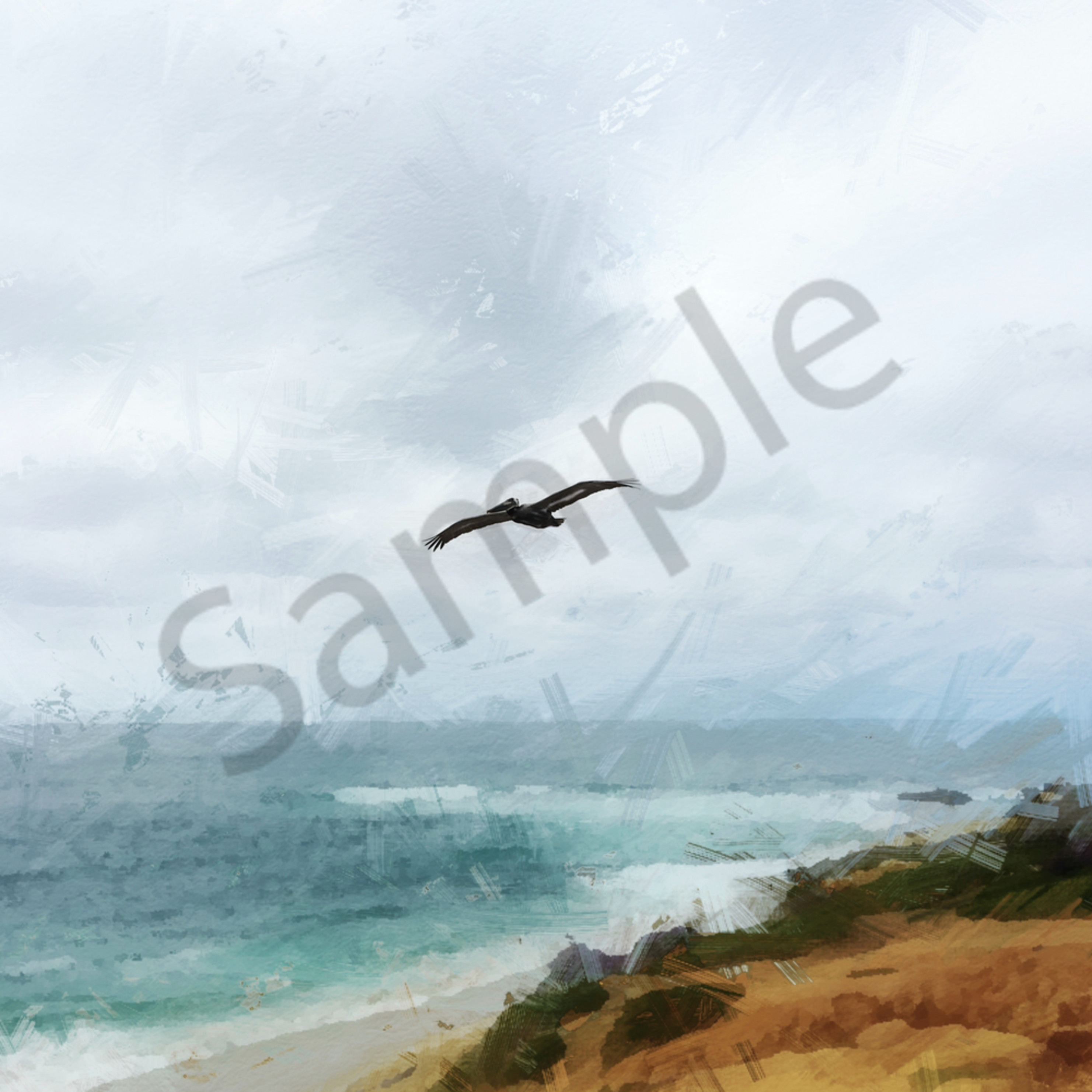 Img 1697 gray may with pelican in la jolla mothers day 2019   abstract digital painting enlight151 desaturate art4theglryofgod mbufss