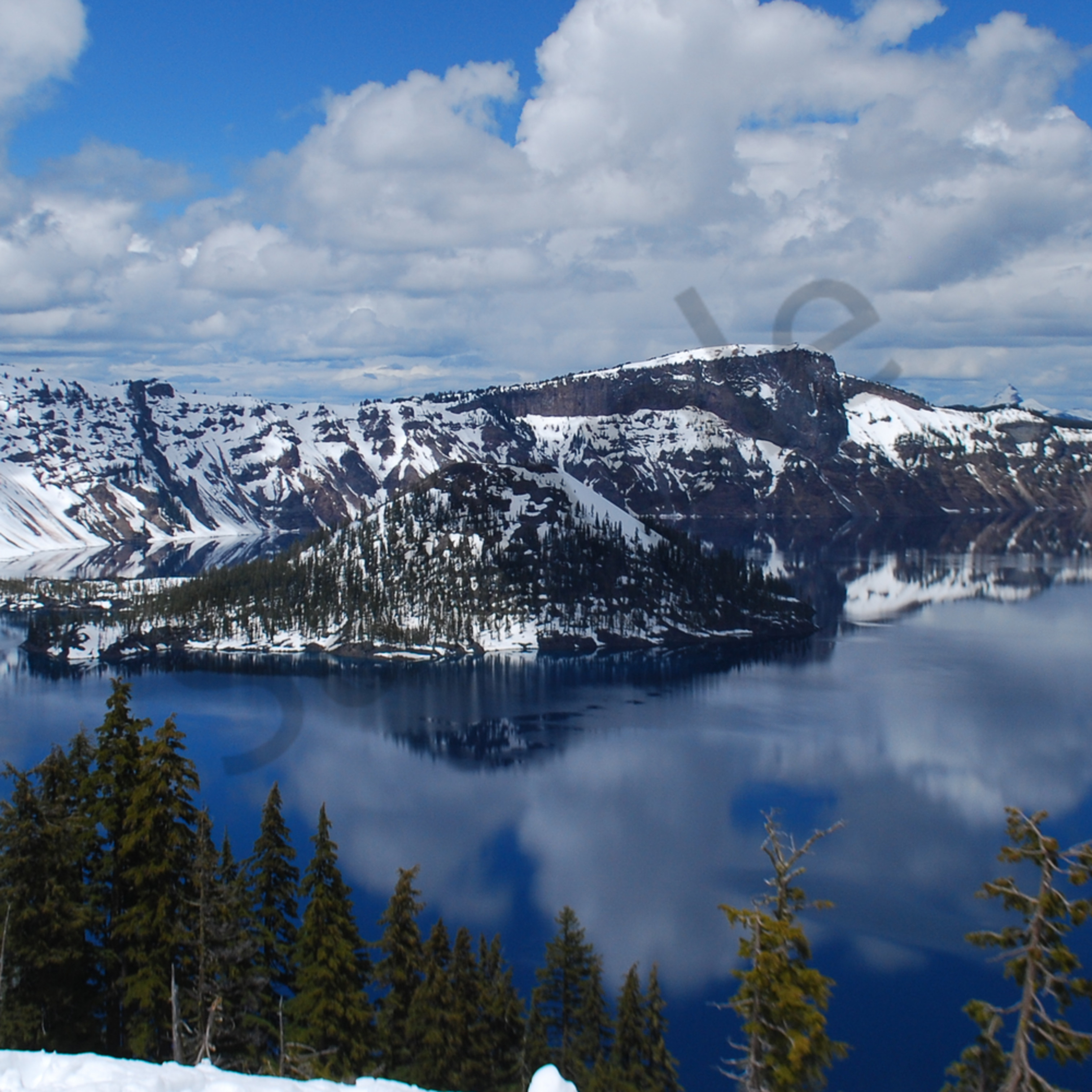 Stopped at crater lake...first time. believe it or not it was t shirt weather   version 2 moopb8