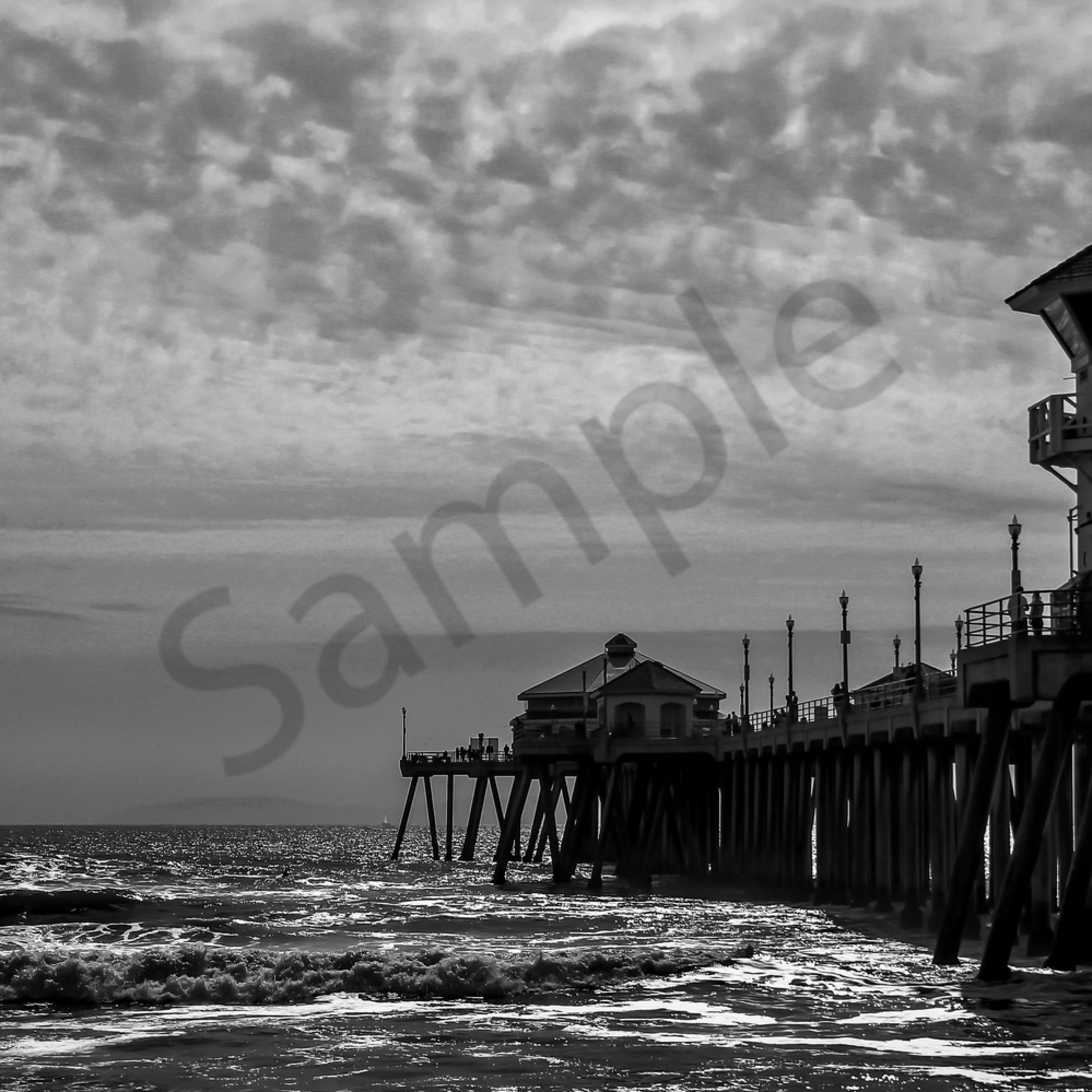 Huntington beach pier b w 2 fkpt7b