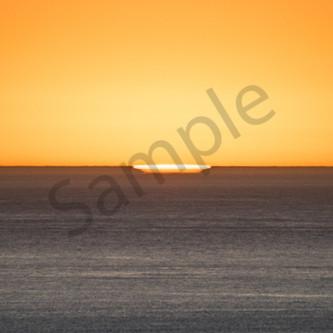 Sunset pano hint of sun exbzpw
