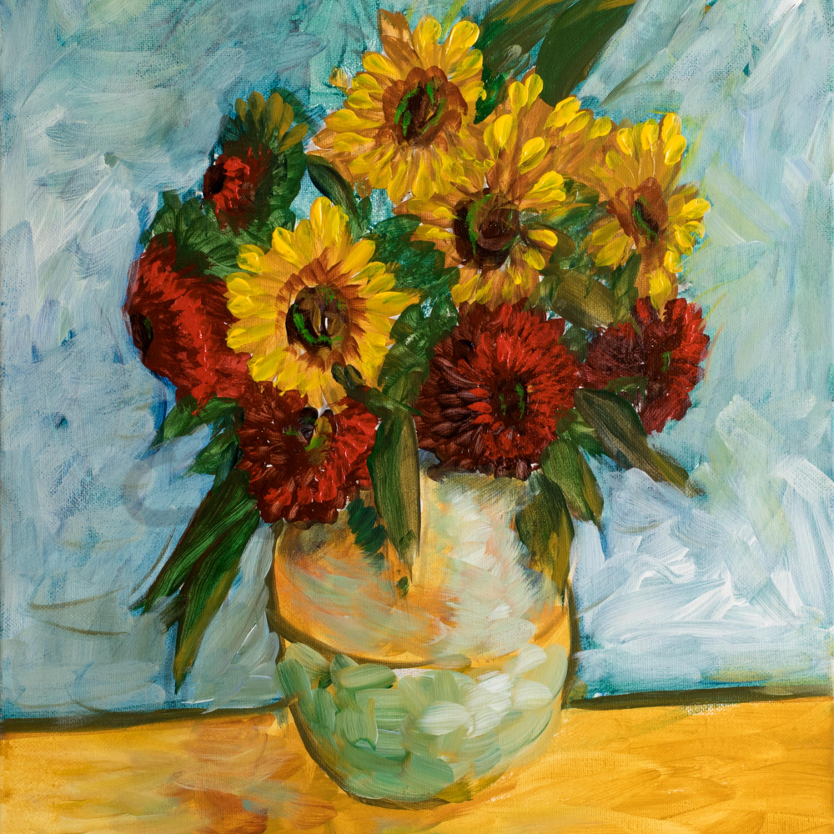 Flowers in jar loybjy