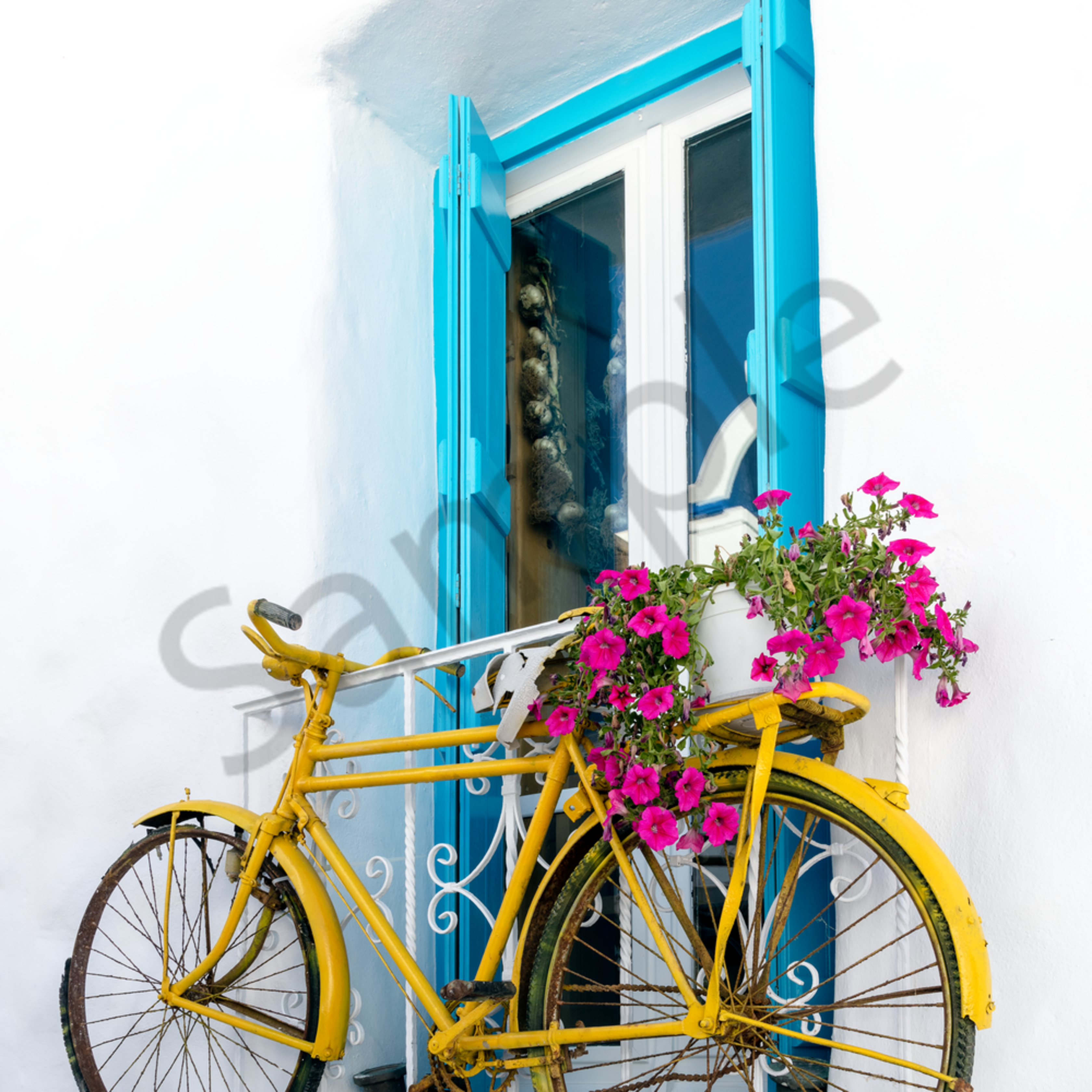 Hanging bicycle naxos greecetif jisdey