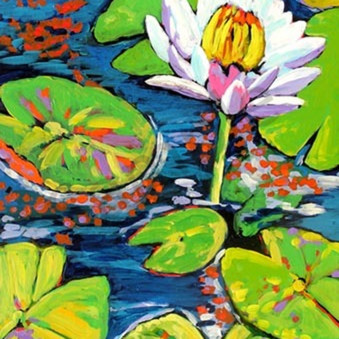 White lily dances in light p1gurd