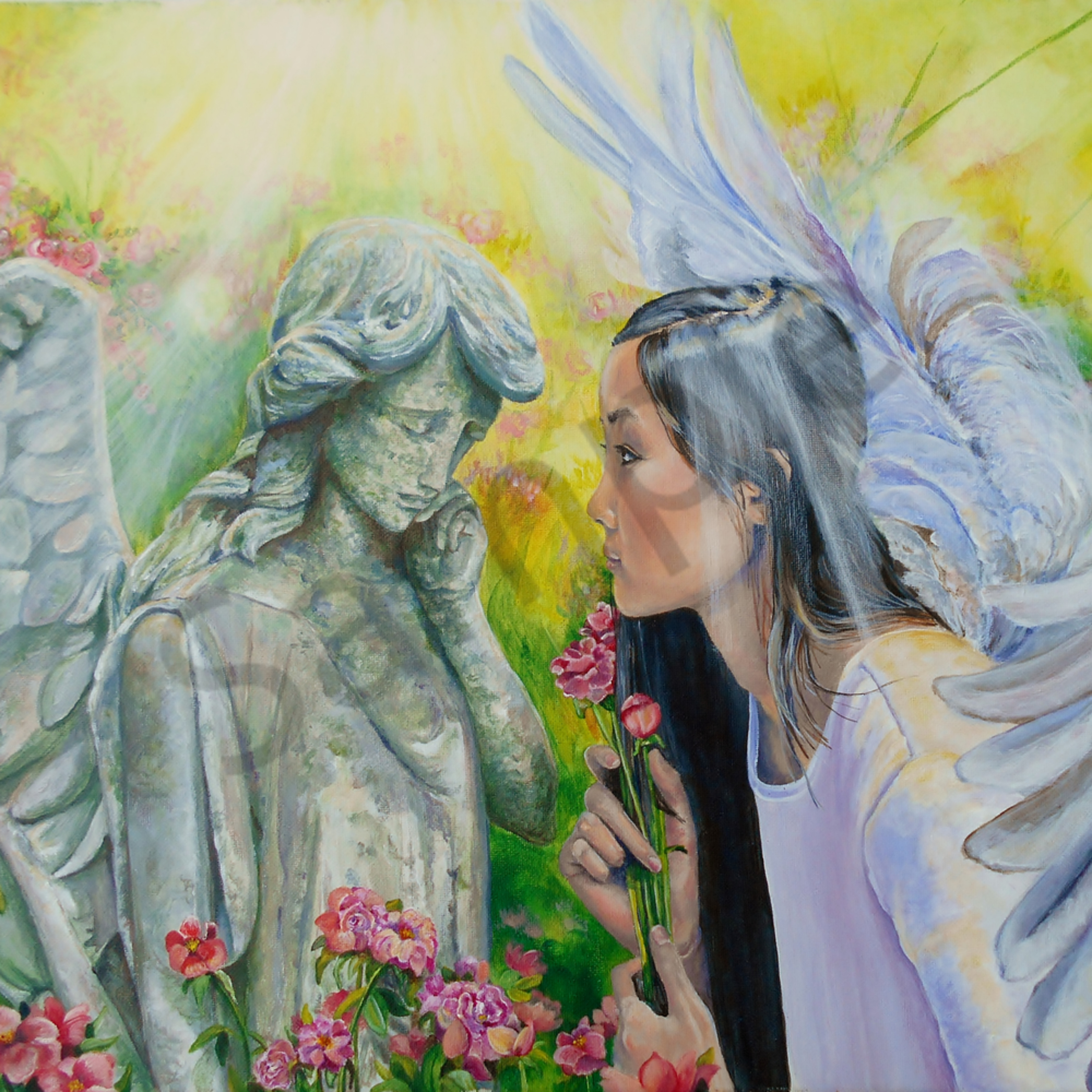 Angels and roses by gina harding zq4vxn