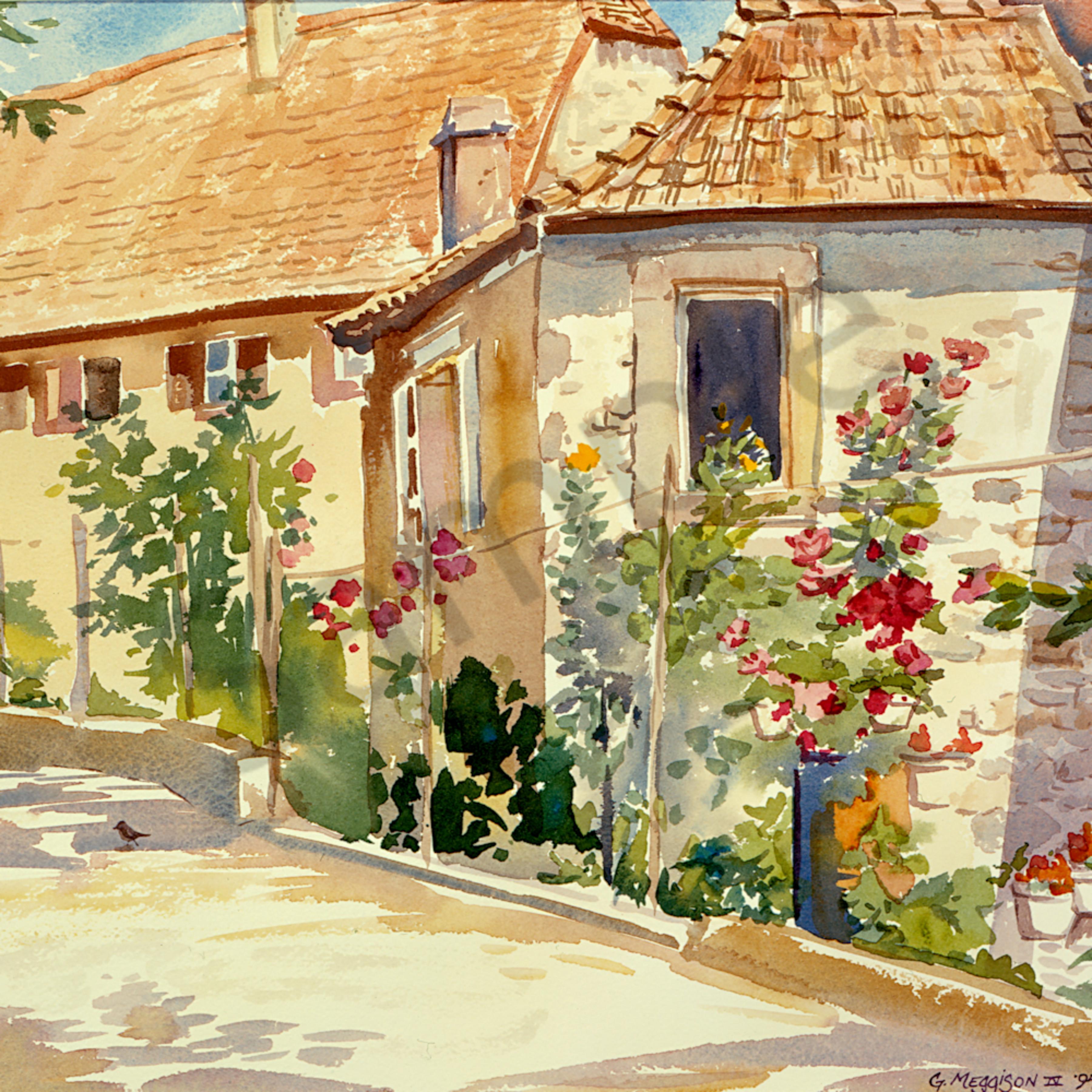 Secret garden 1 12 x16 watercolor g48j6j