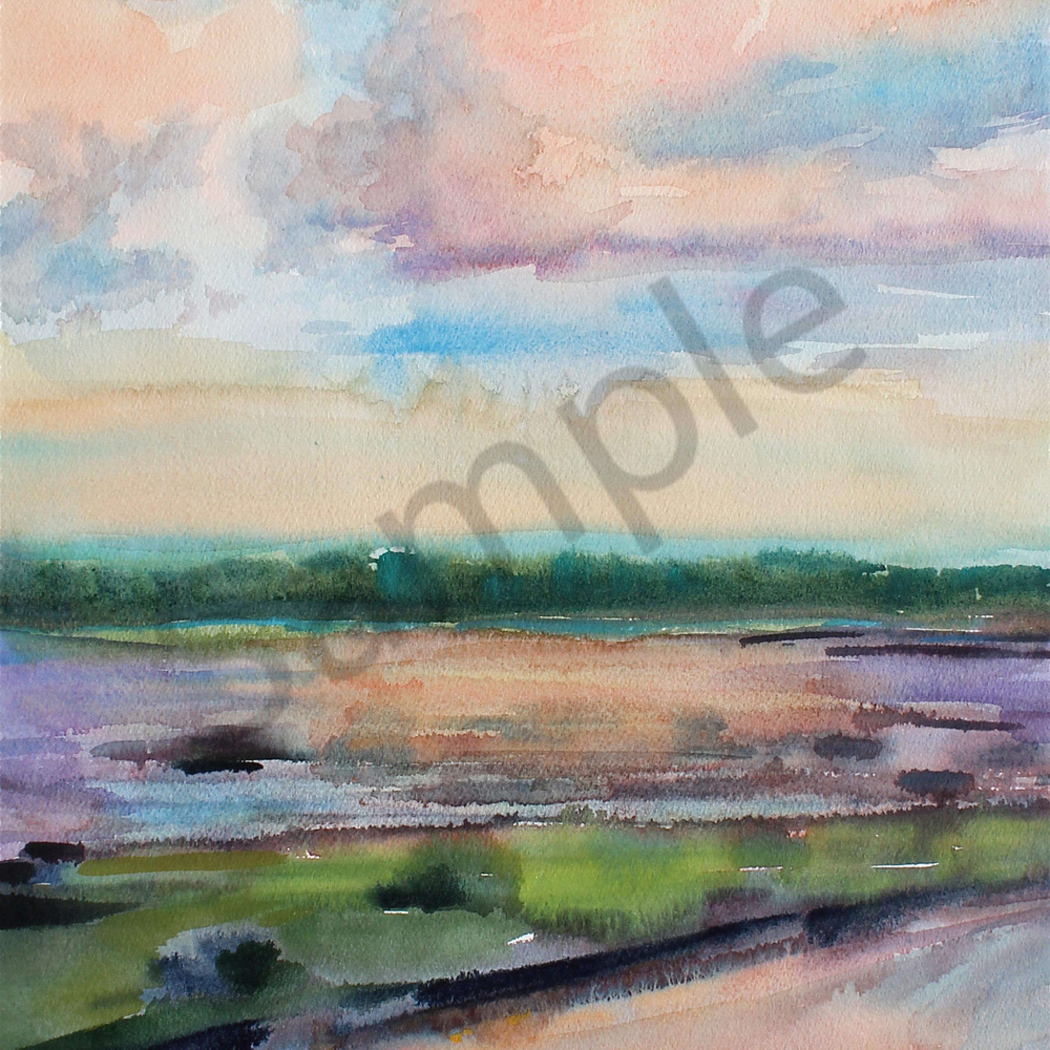 Marsh landing 12 x18 watercolor tpggpv