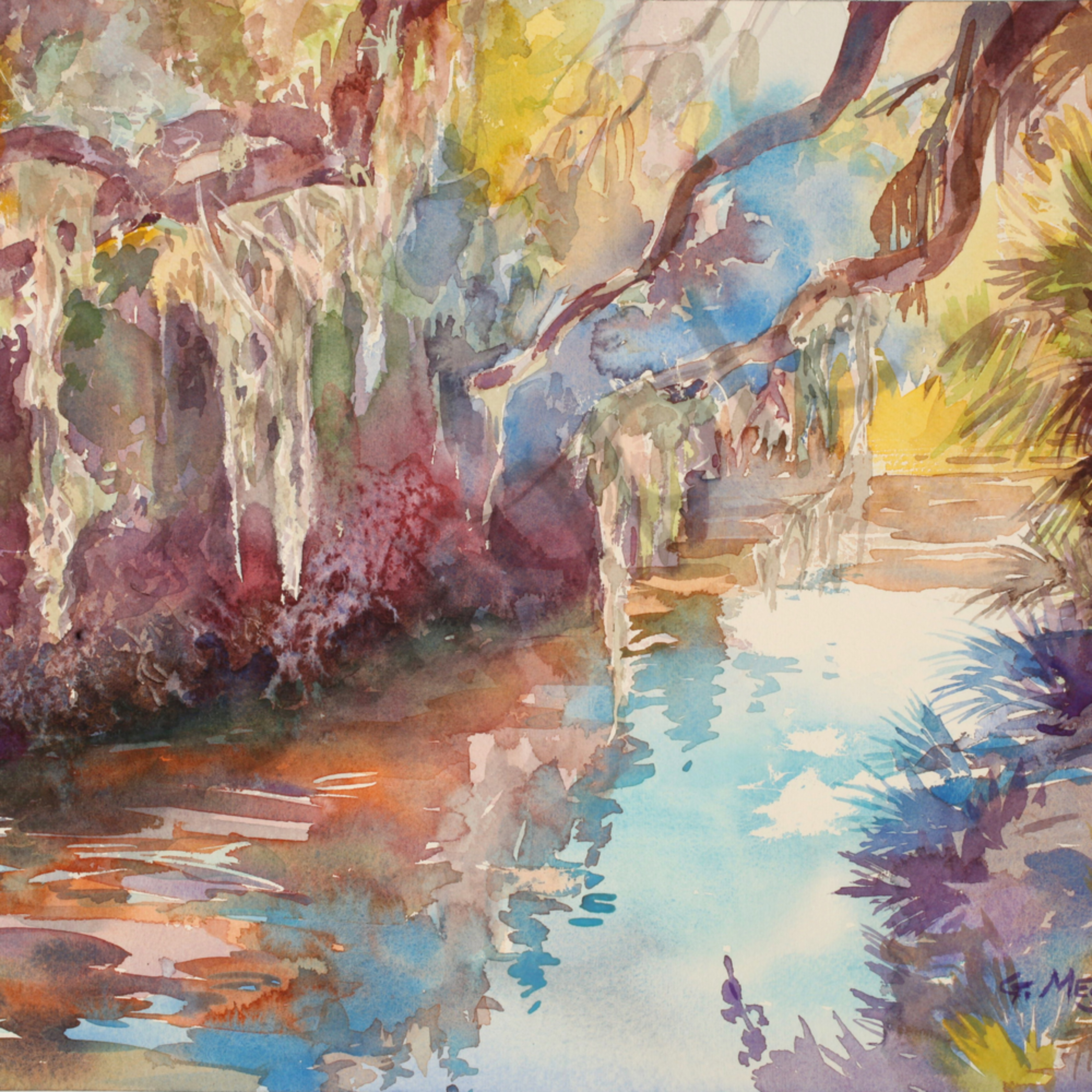 Matanzas river 16 x 12 watercolor landscapes bhs2vj