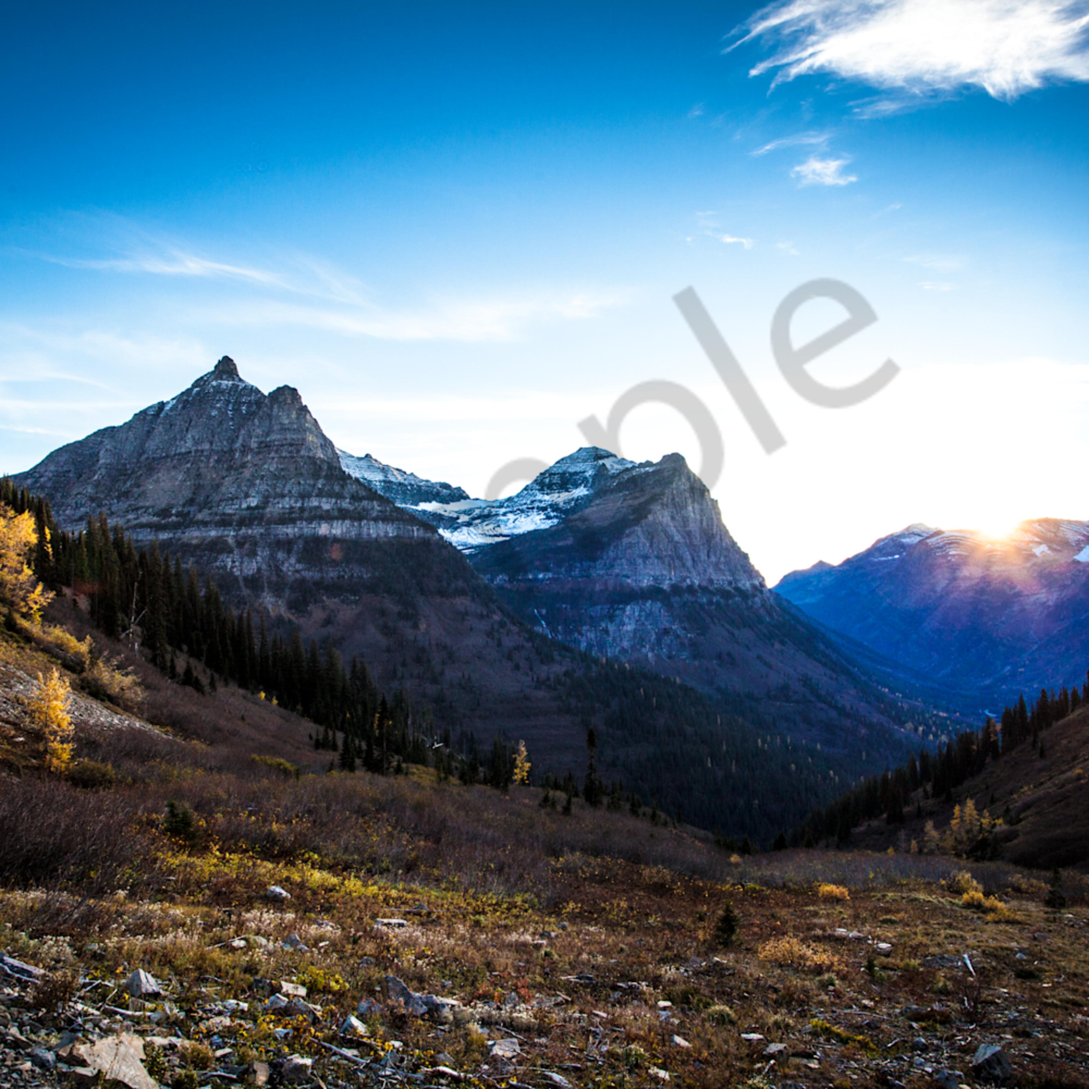 Montana mountains snowpeaks sunset nationalpark horizontal p5fppl