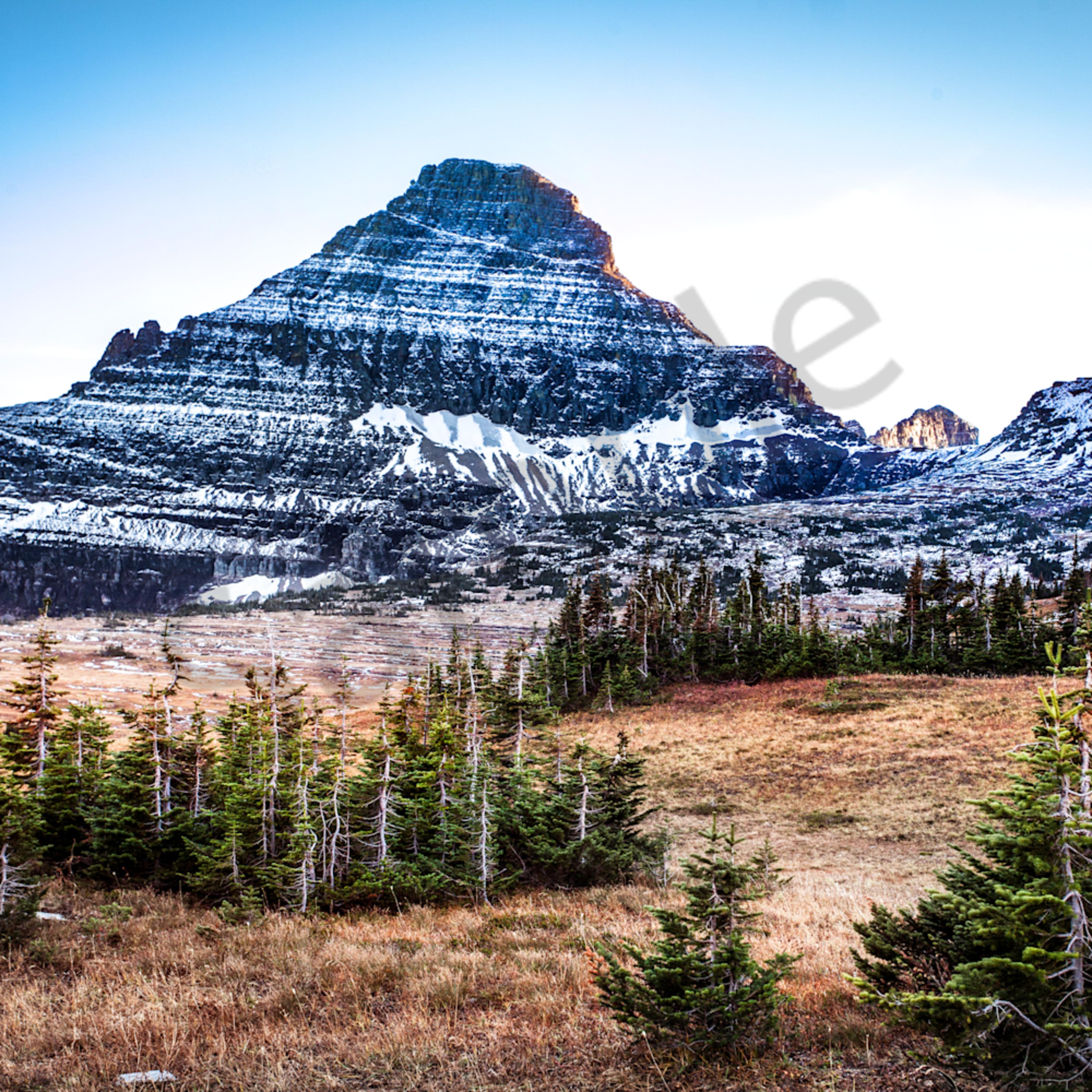 Montana mountains trees snowpeaks sunset nationalpark horizontal wp9ycz