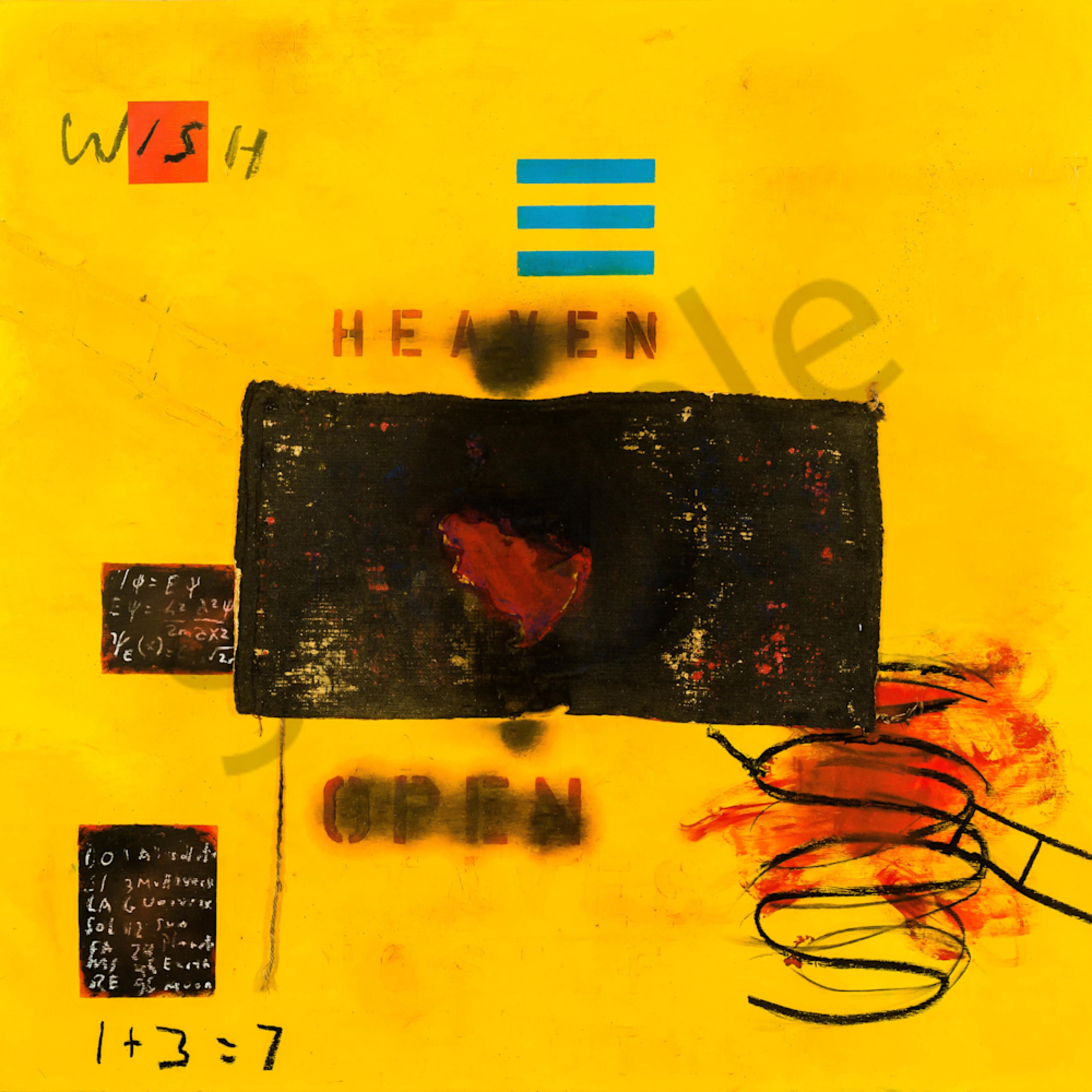 Heaven is open mm on board 48x48 yjyiim