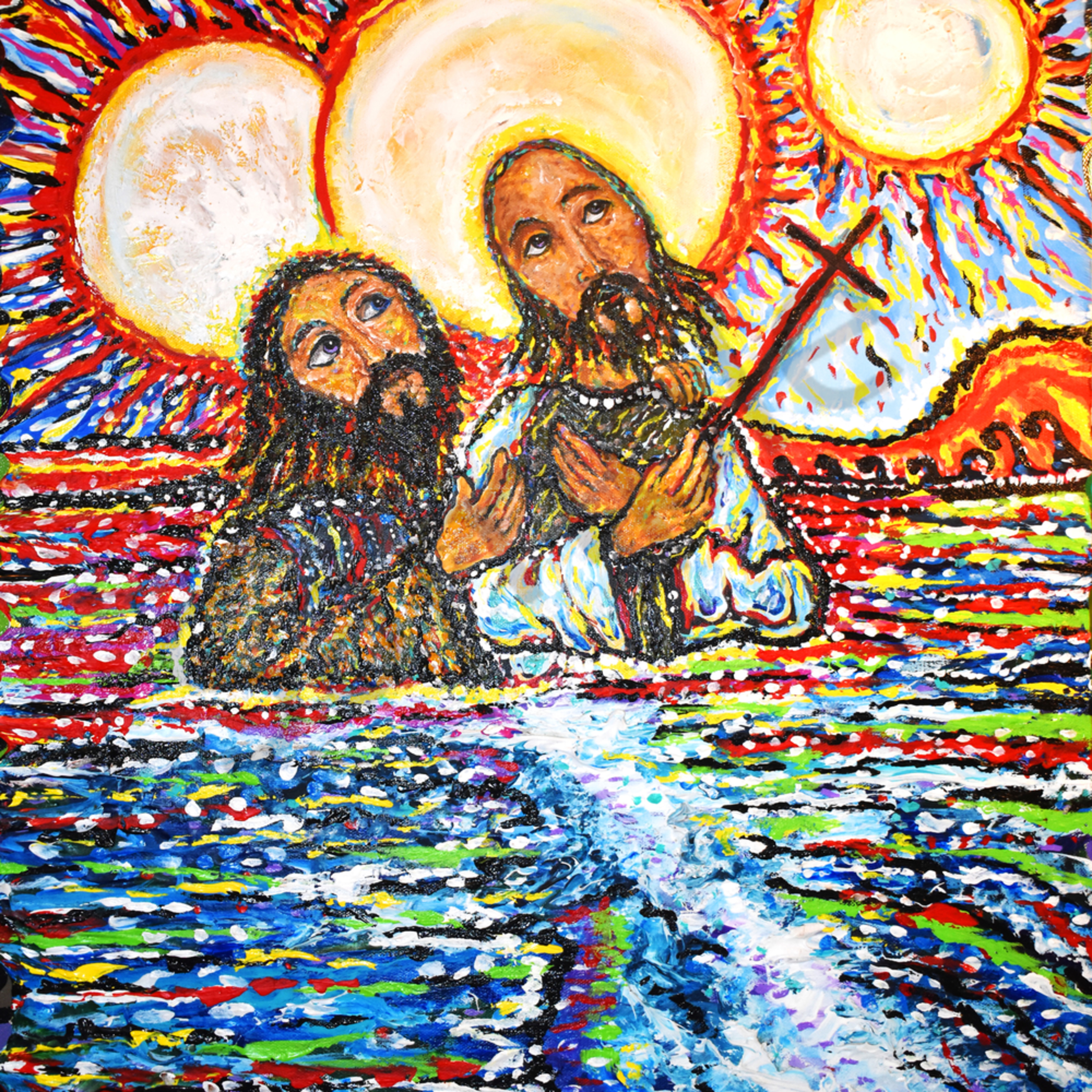 John baptising jesus in the jordan river revised by mark durham vhcvcd