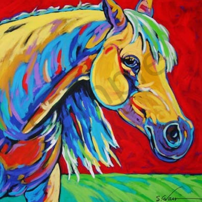 Yellow horse j7payy