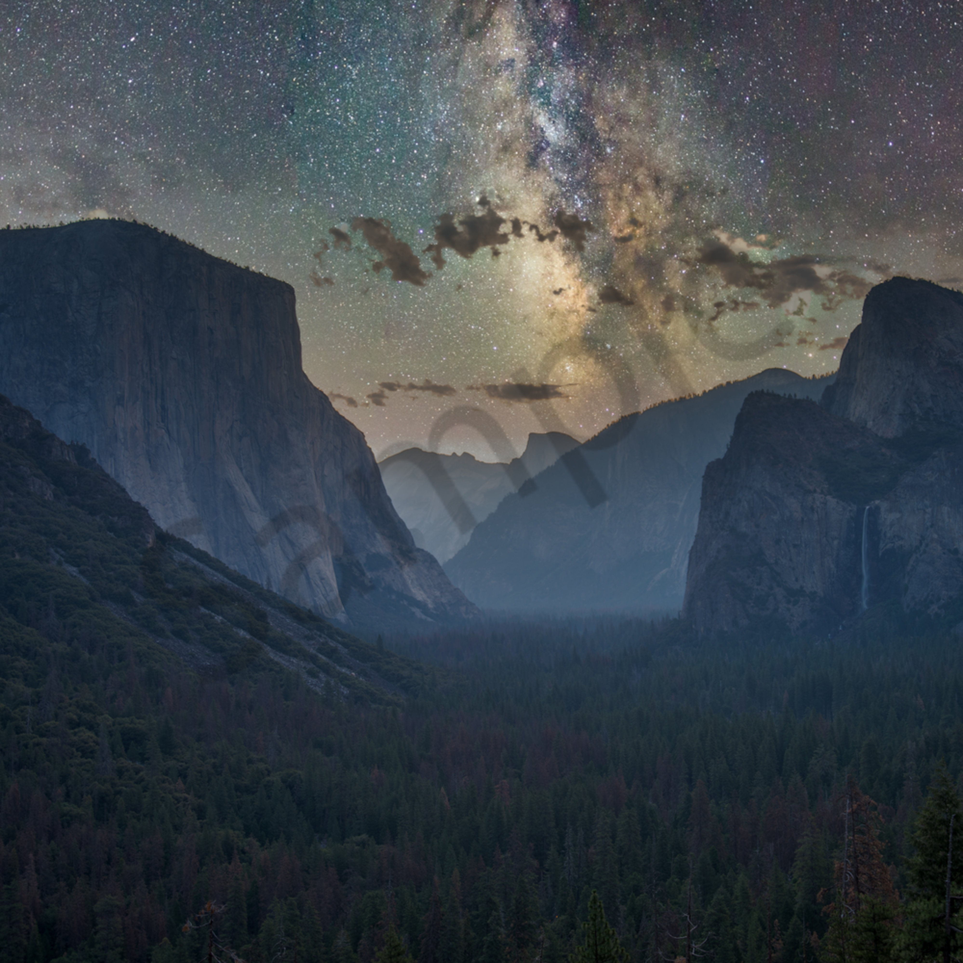 Yosemite valley starry night hdr luminar4 edit vftukz