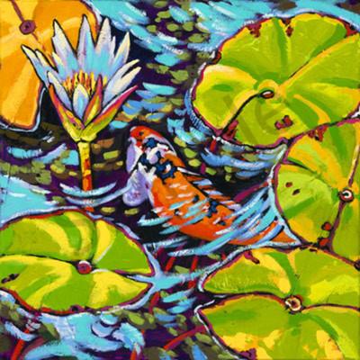 Gliding through the lilies web iawuad
