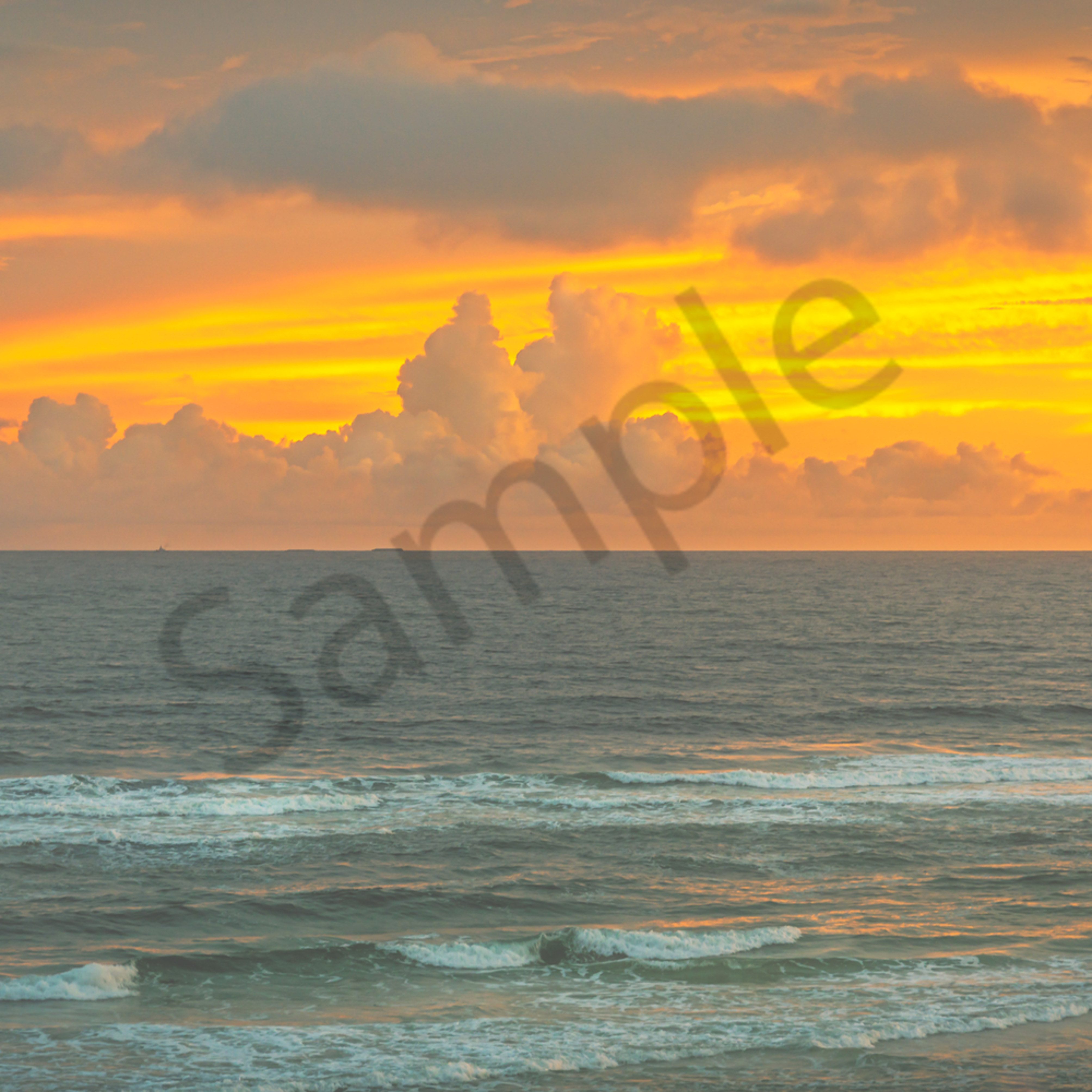 Orange cloud ocean l3ole1