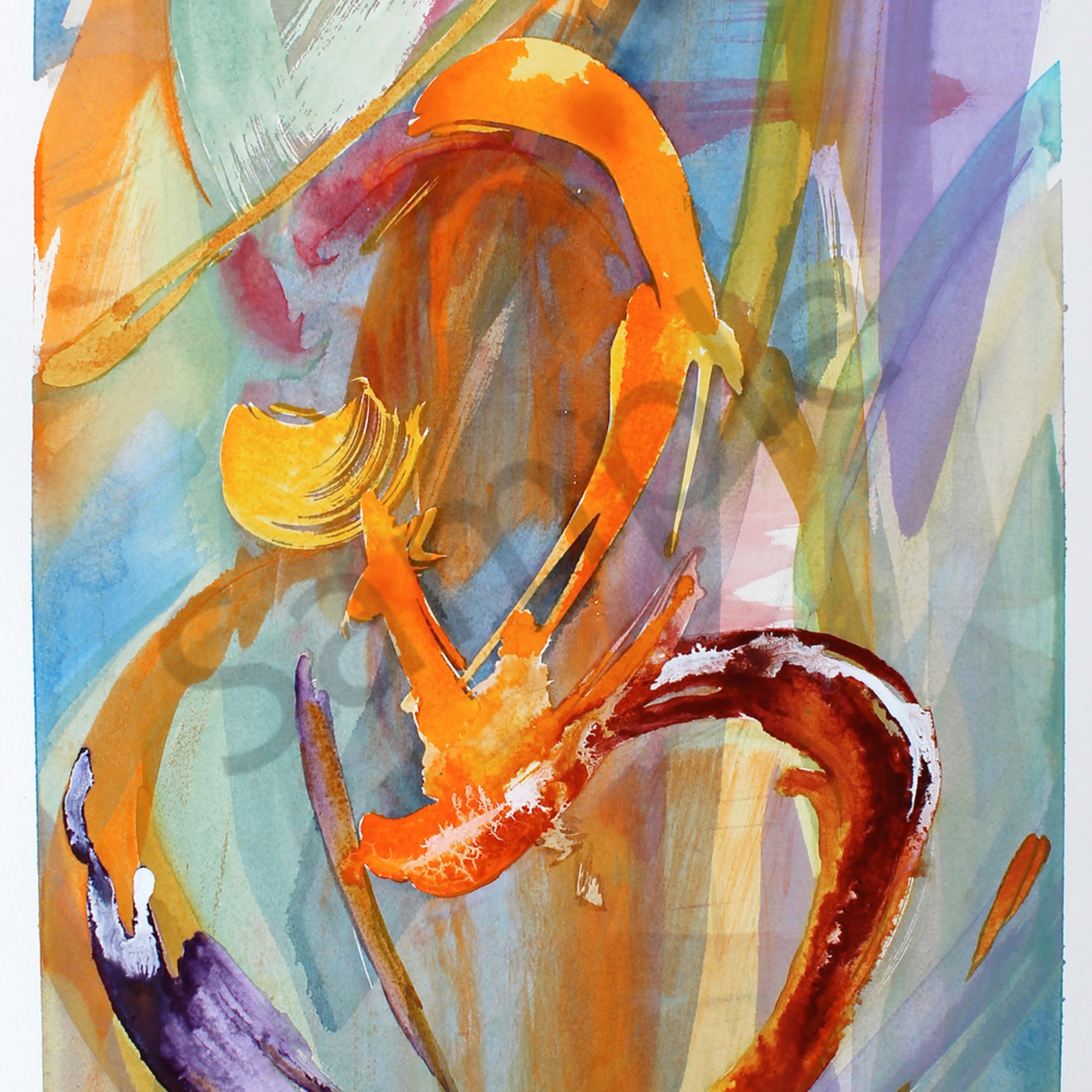 Dancing energy 14 x20 watercolor bax0oi