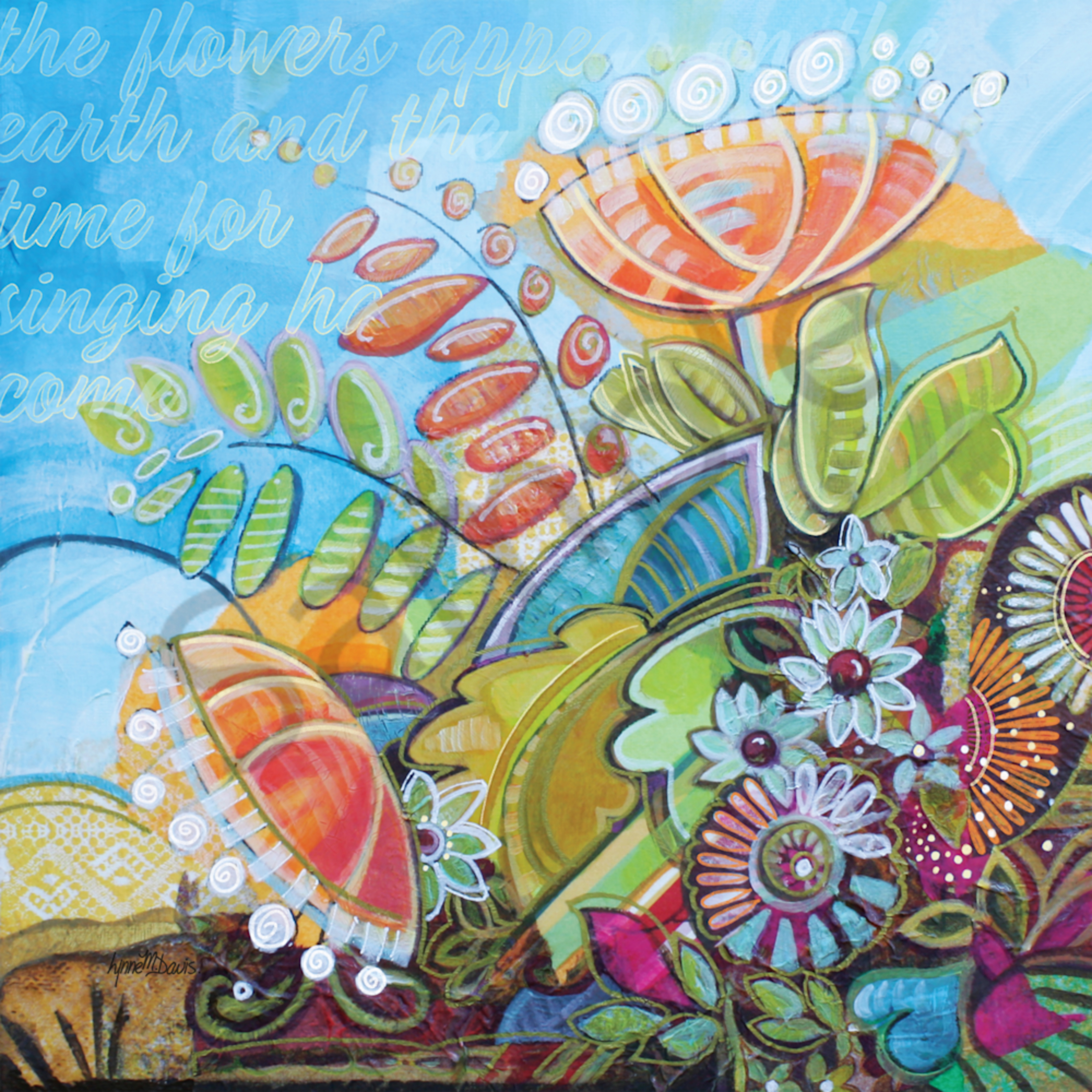 Spring flowers sing by lynne davis zw2dko