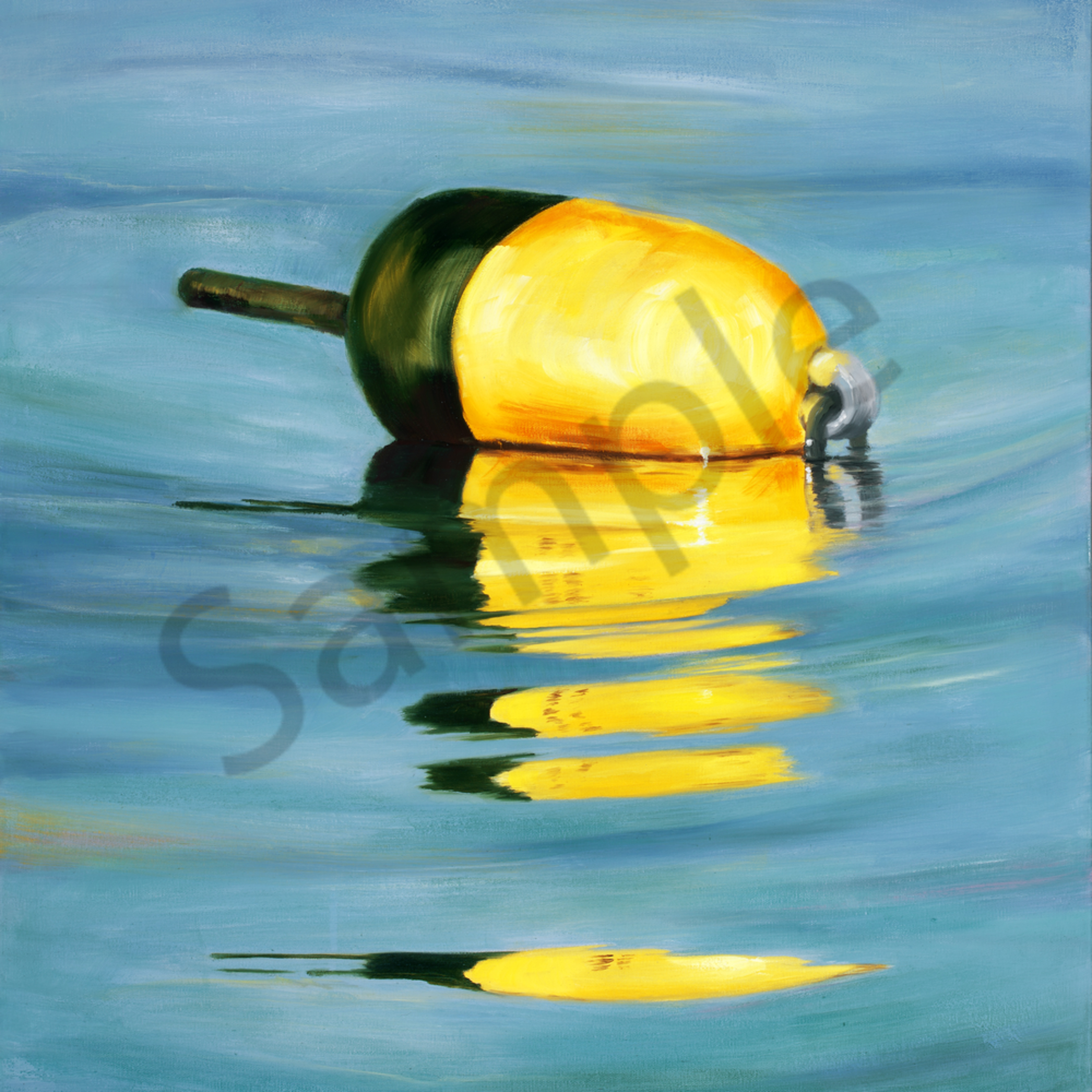 Picture 205 yellow lorster buoy 24x36 crop b flat 84mg wvsas2