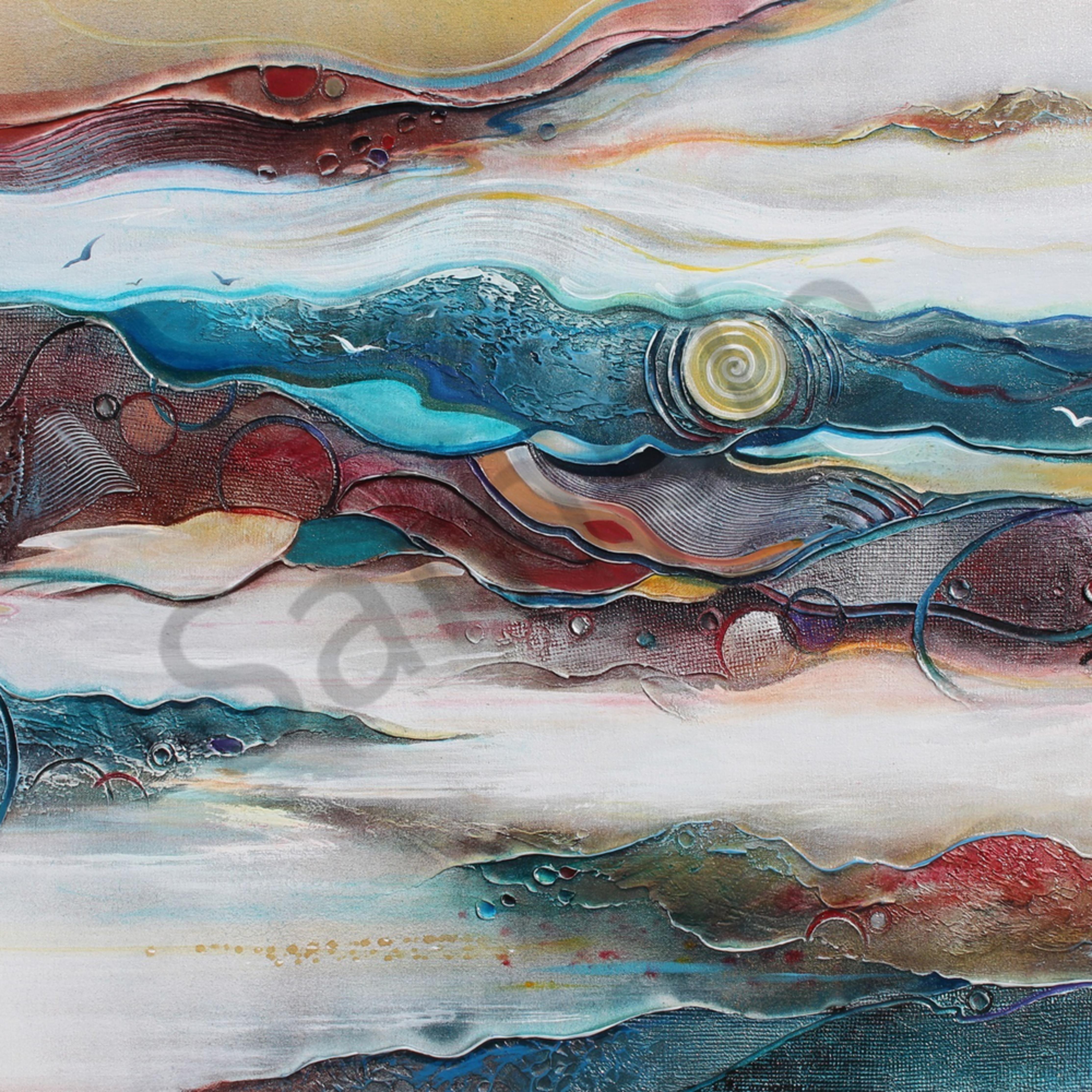 Seascape abstract 1 of 1 o498gu
