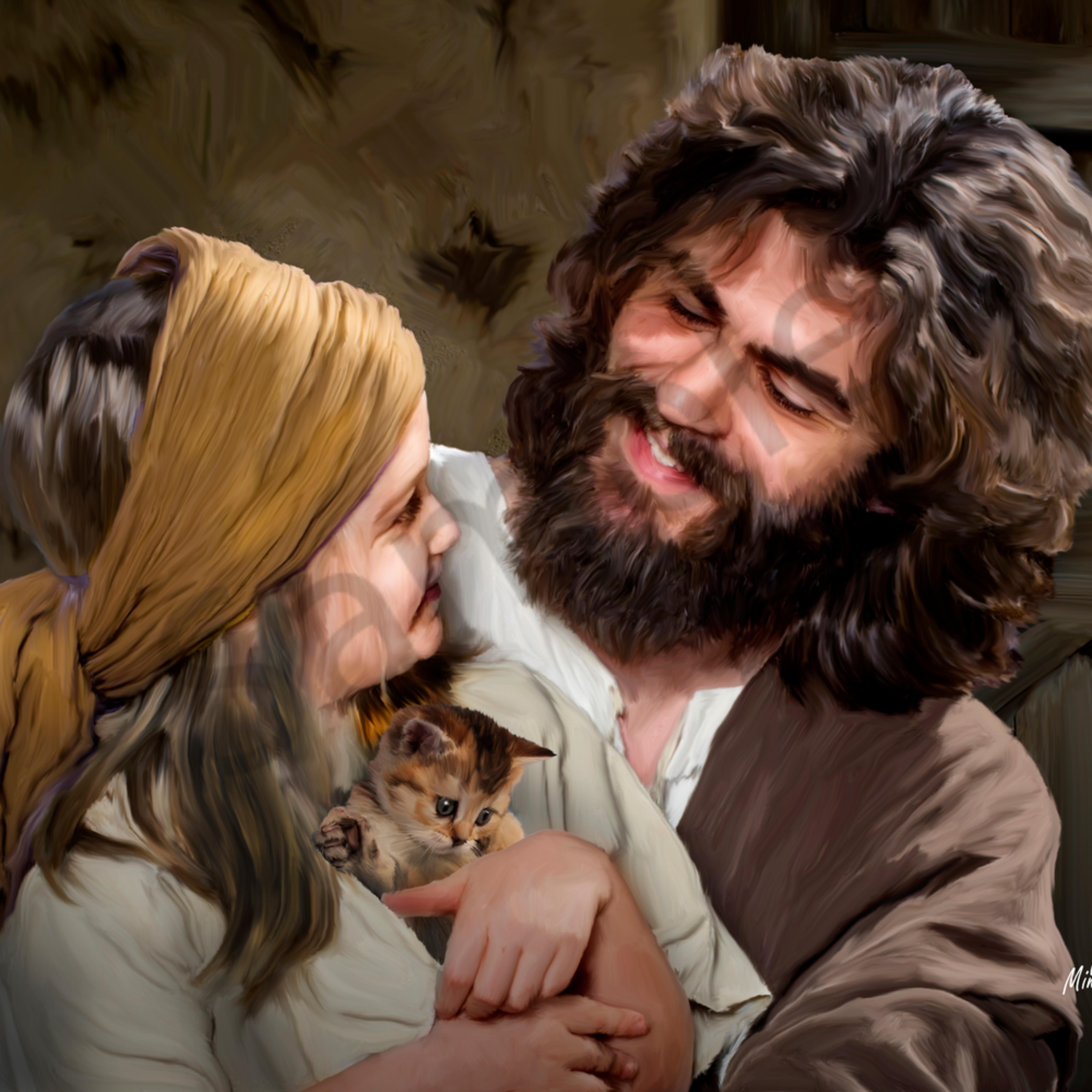 Jesus and girl df8j6v