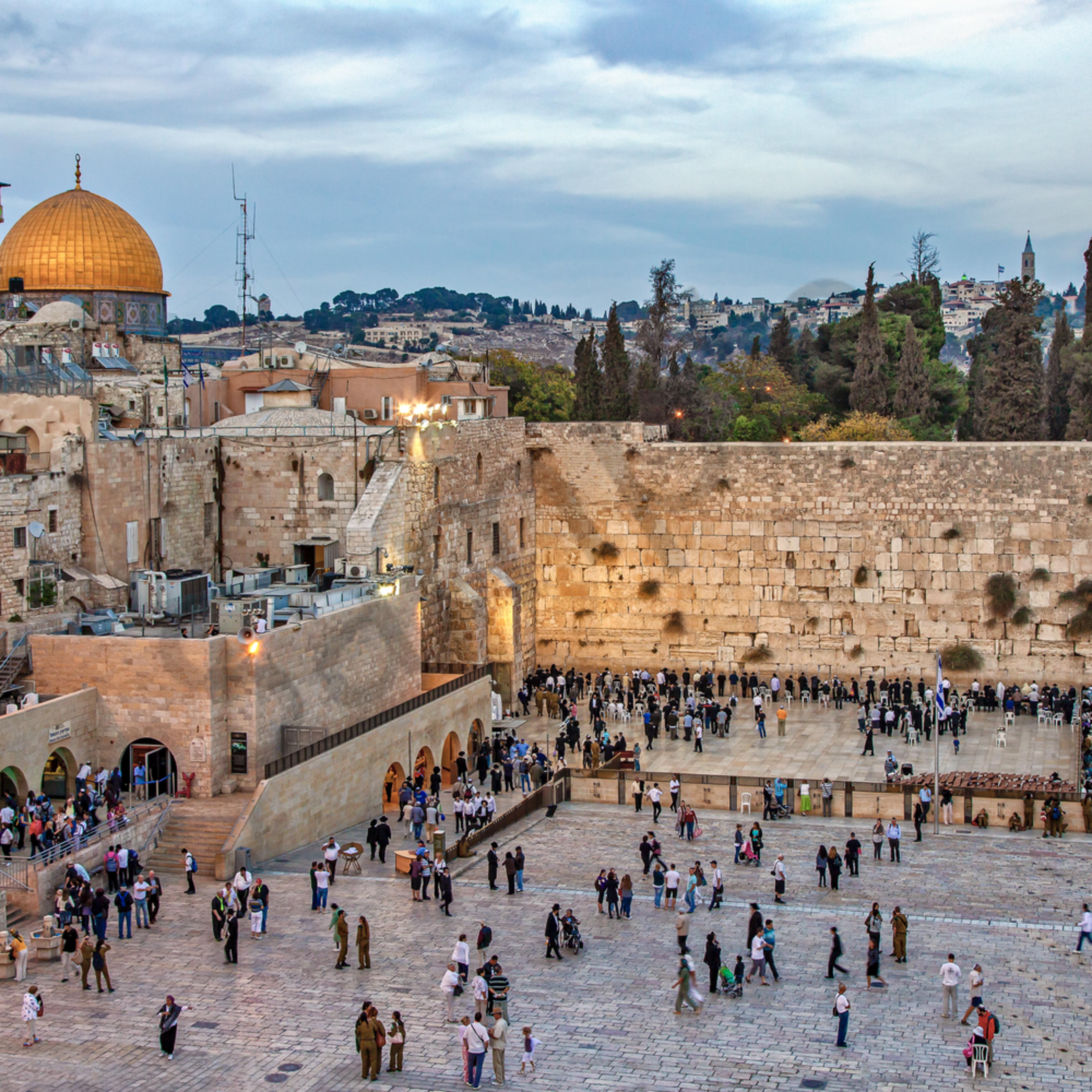 Western wall jerusalem israe f2xdkc