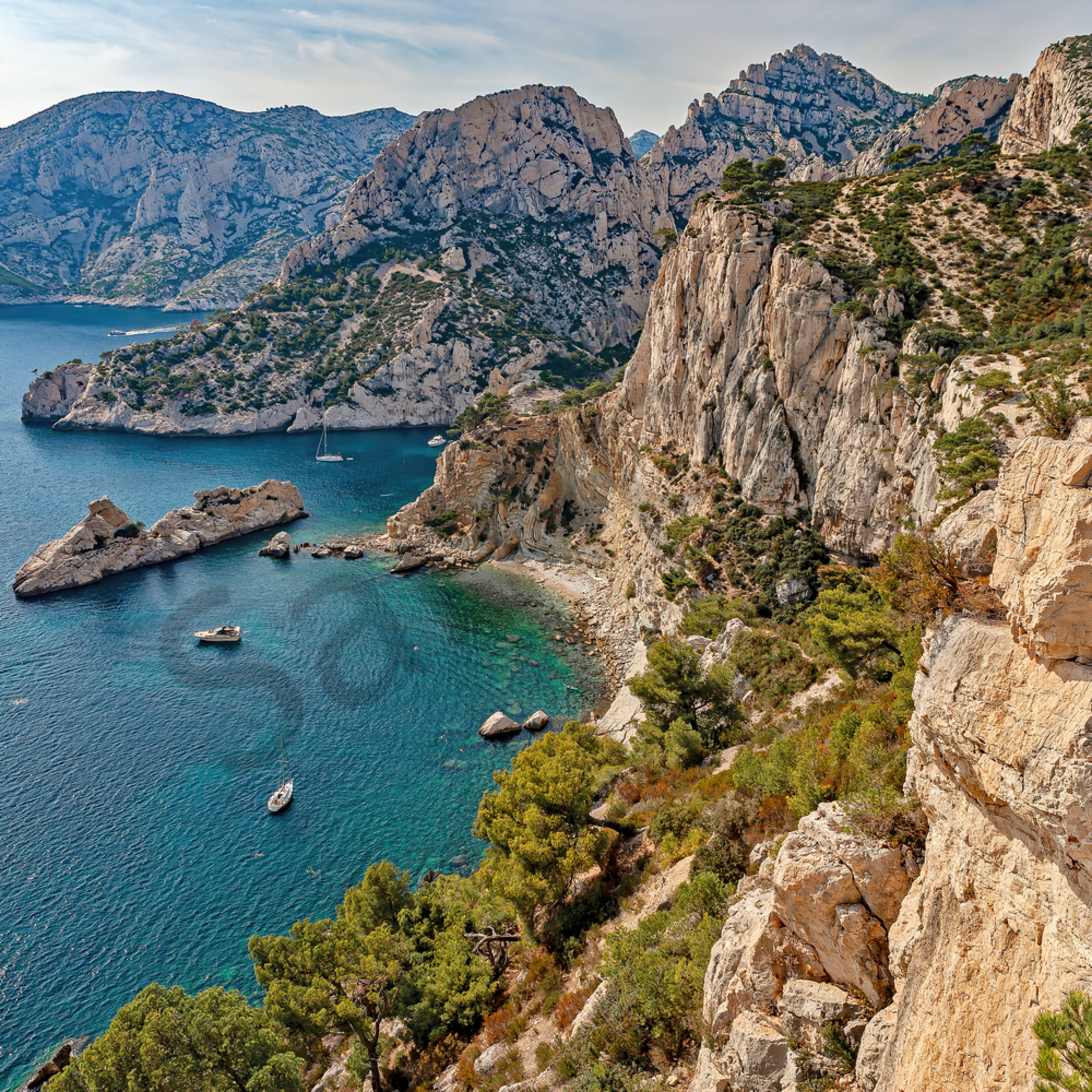 Calanques limestone cliffs of cassis france fu3kur