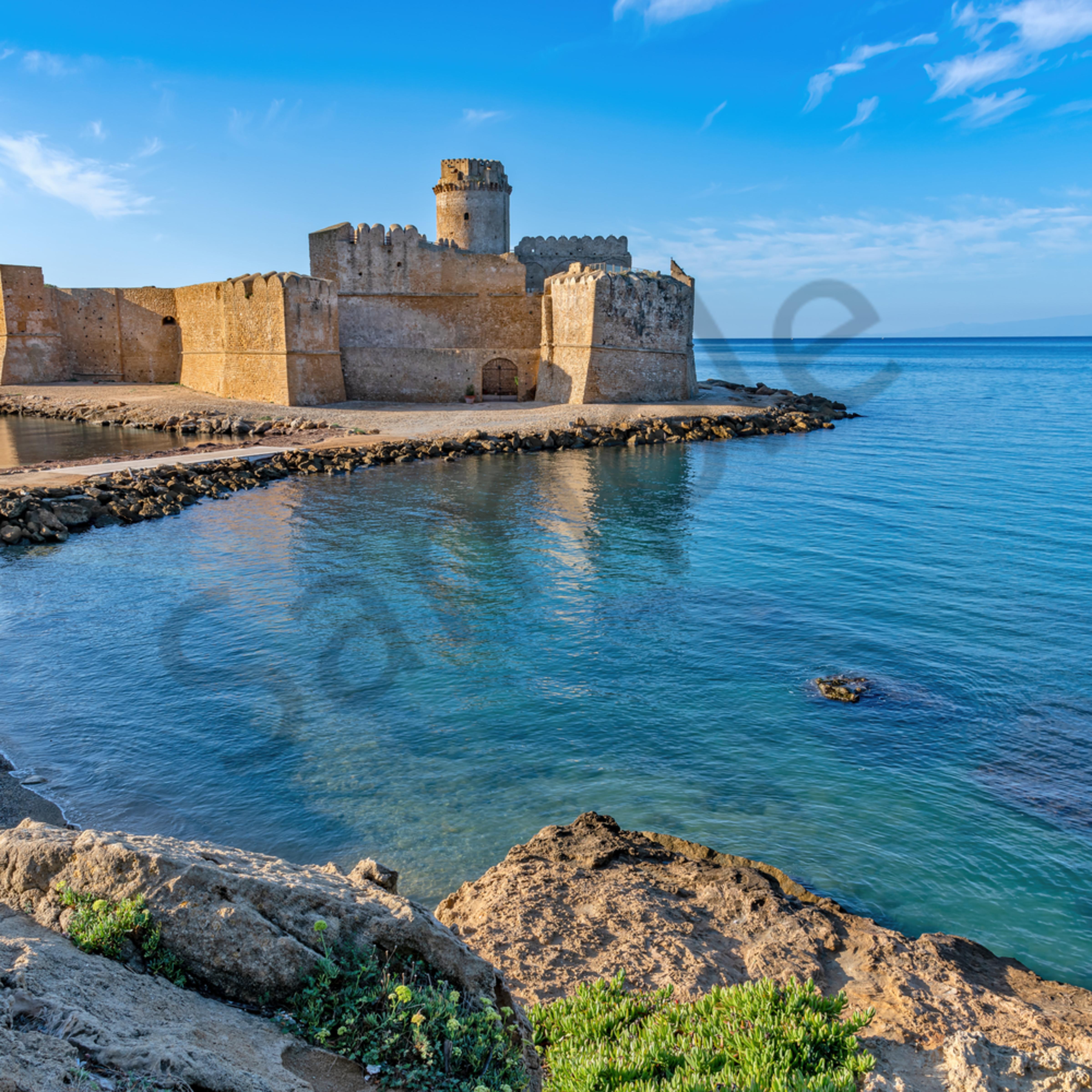 Crotone and castle calabria italy sumlsi