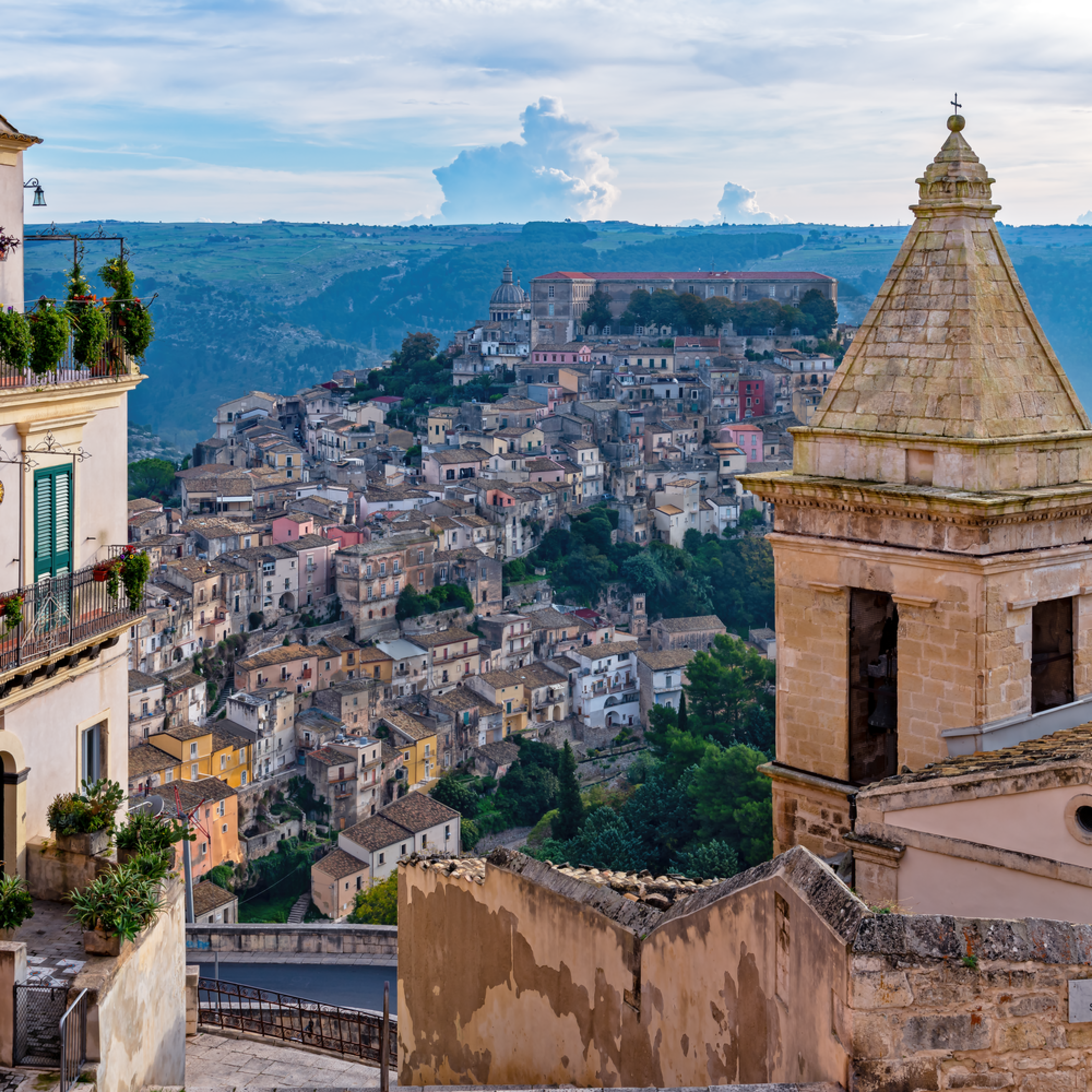 Ragusa from above sicily italy z2vcap