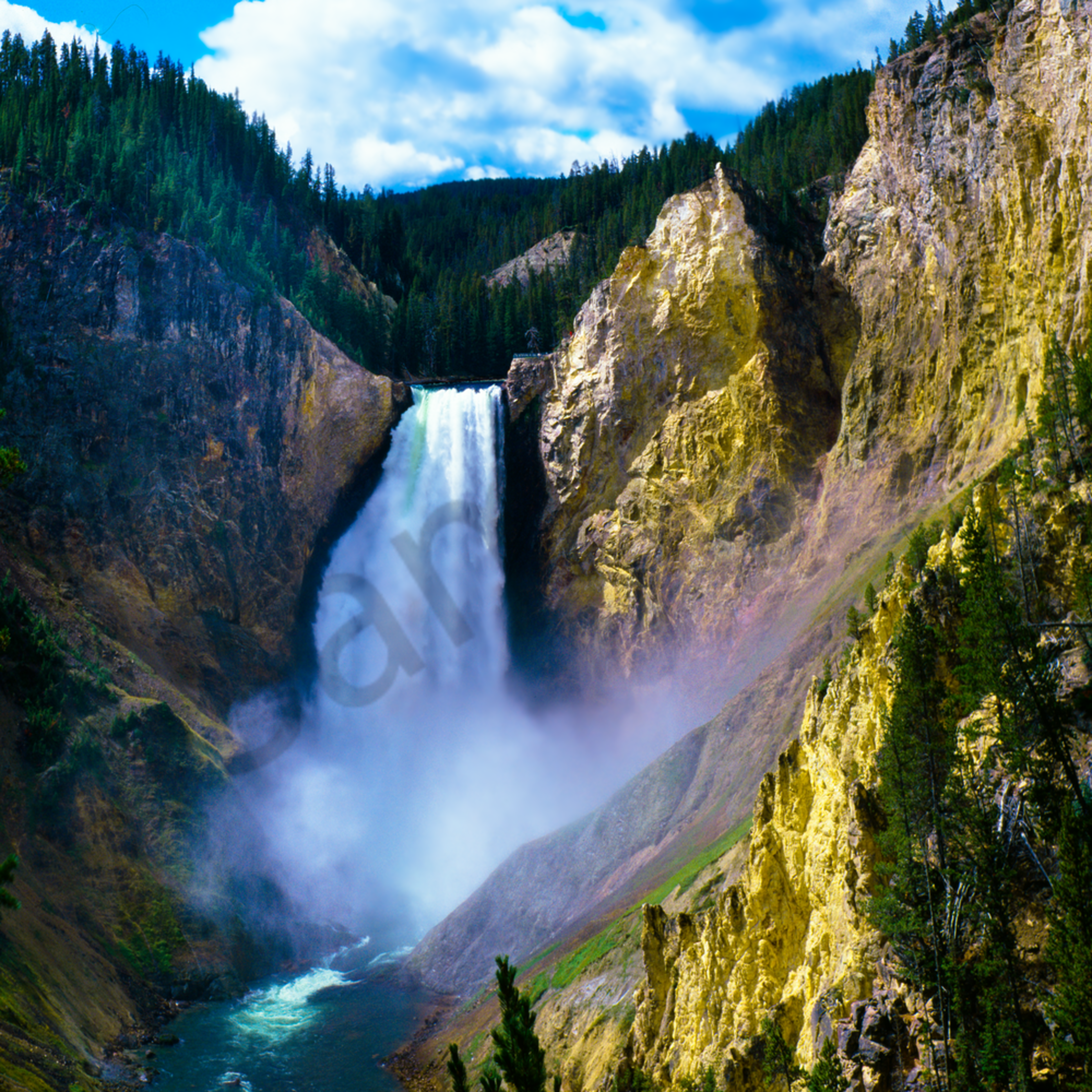 Lower falls of the yellowstone river td769z