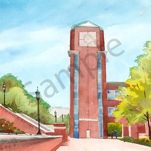 The unc charlotte clock tower hfmmgq