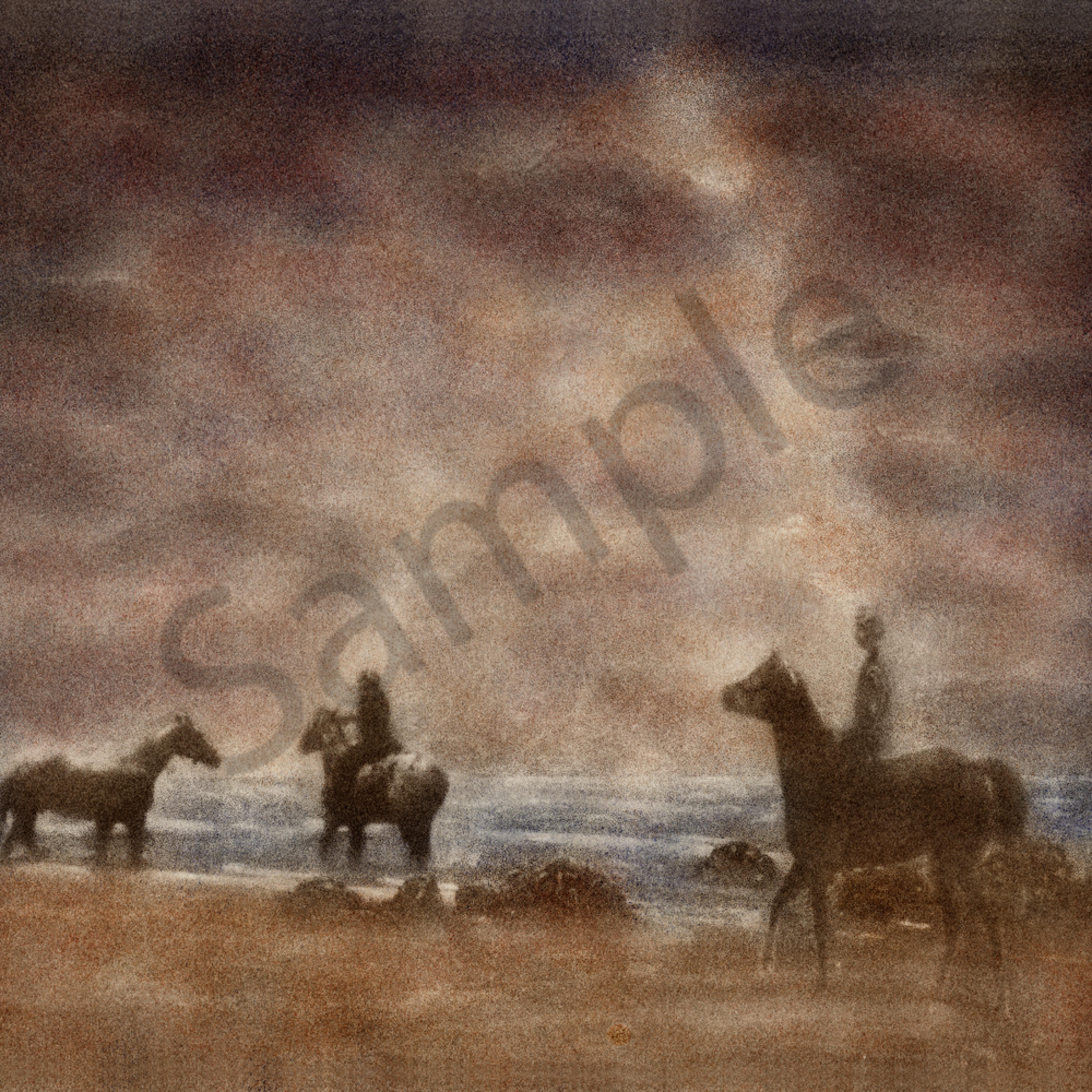 Horse riding on the beach gy97ui