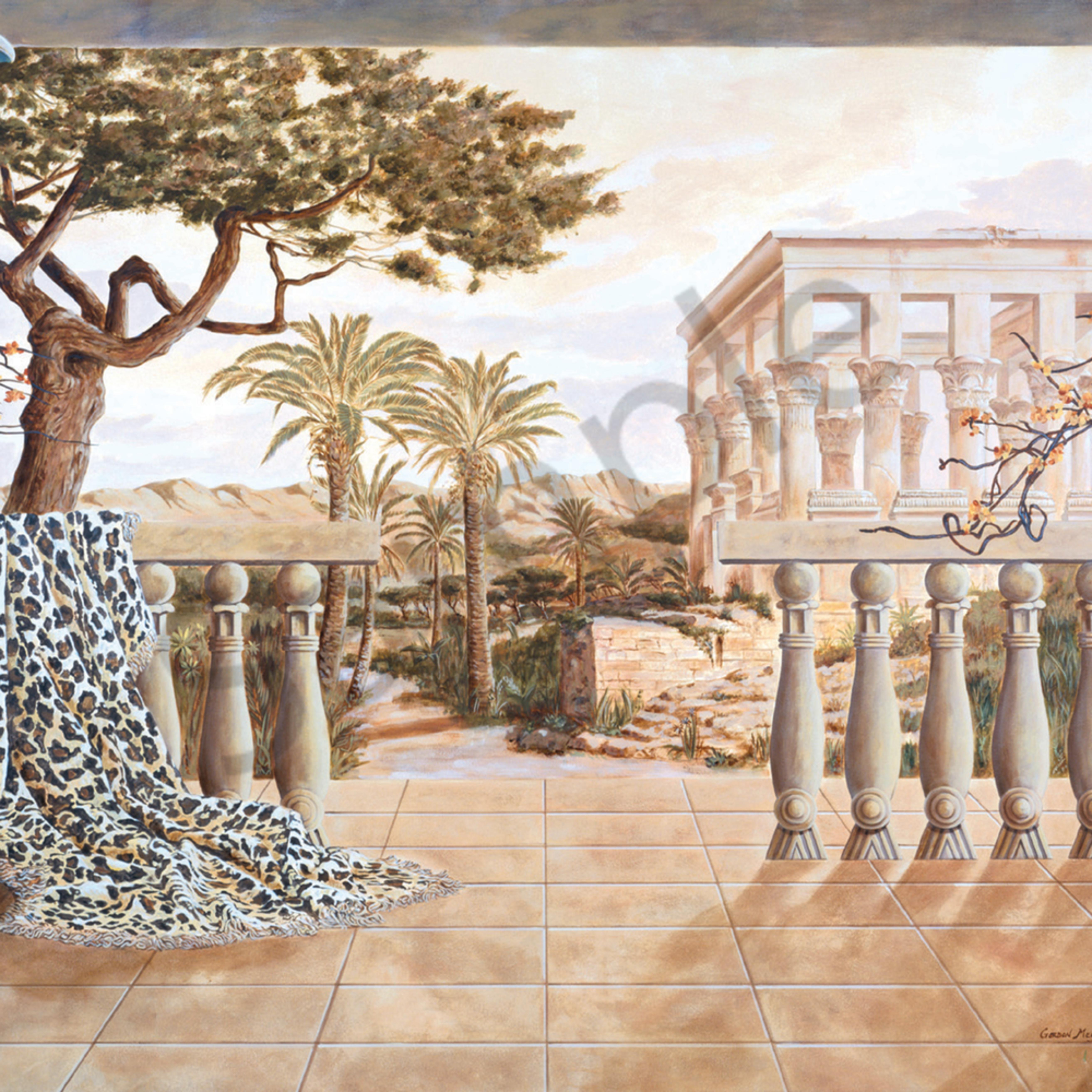Garden of luxor 35 x 70 print ncfh01