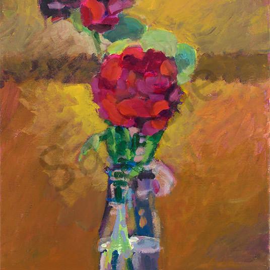 Milk bottle roses b2vydd