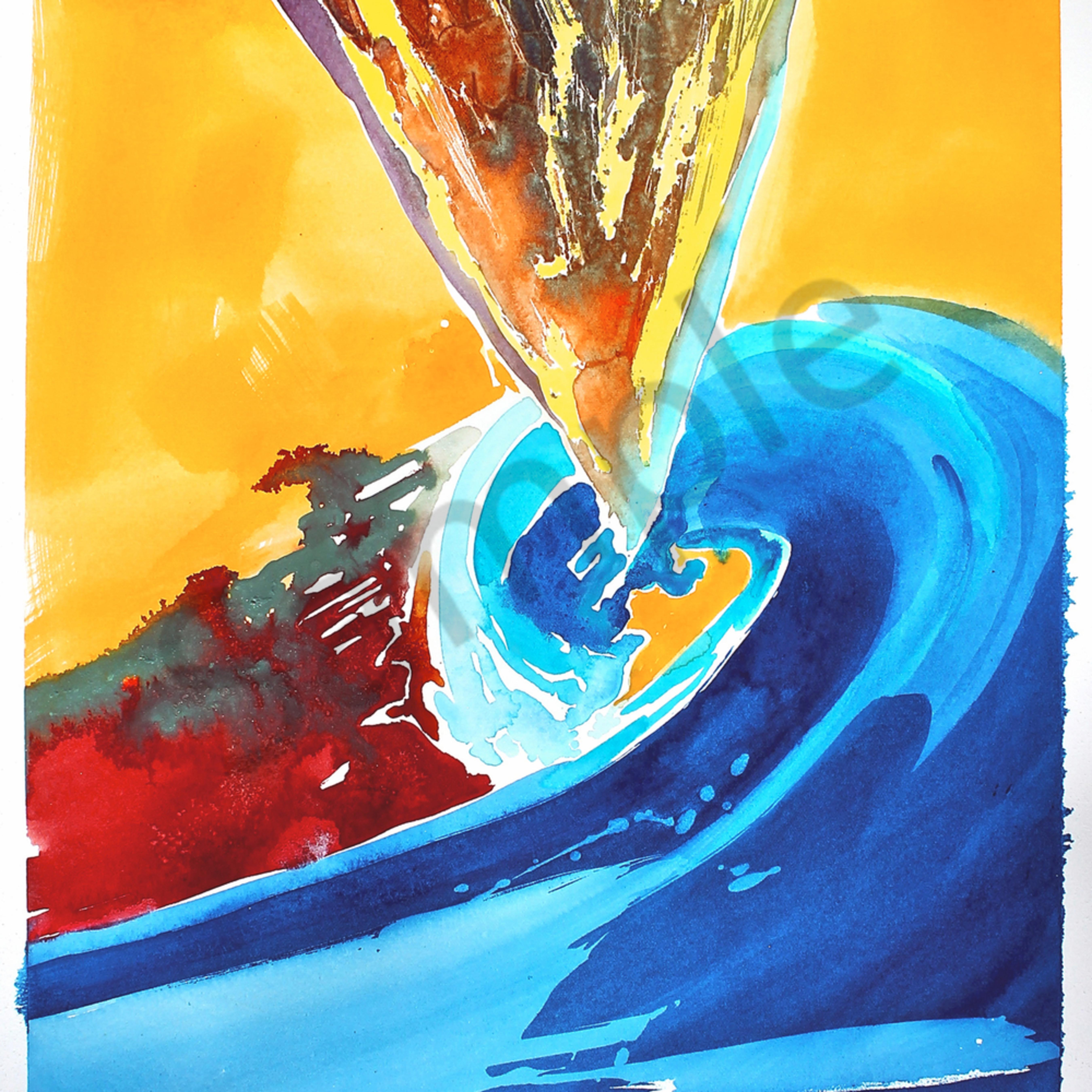 Spiral color field 18 x24 watercolor dd64pe
