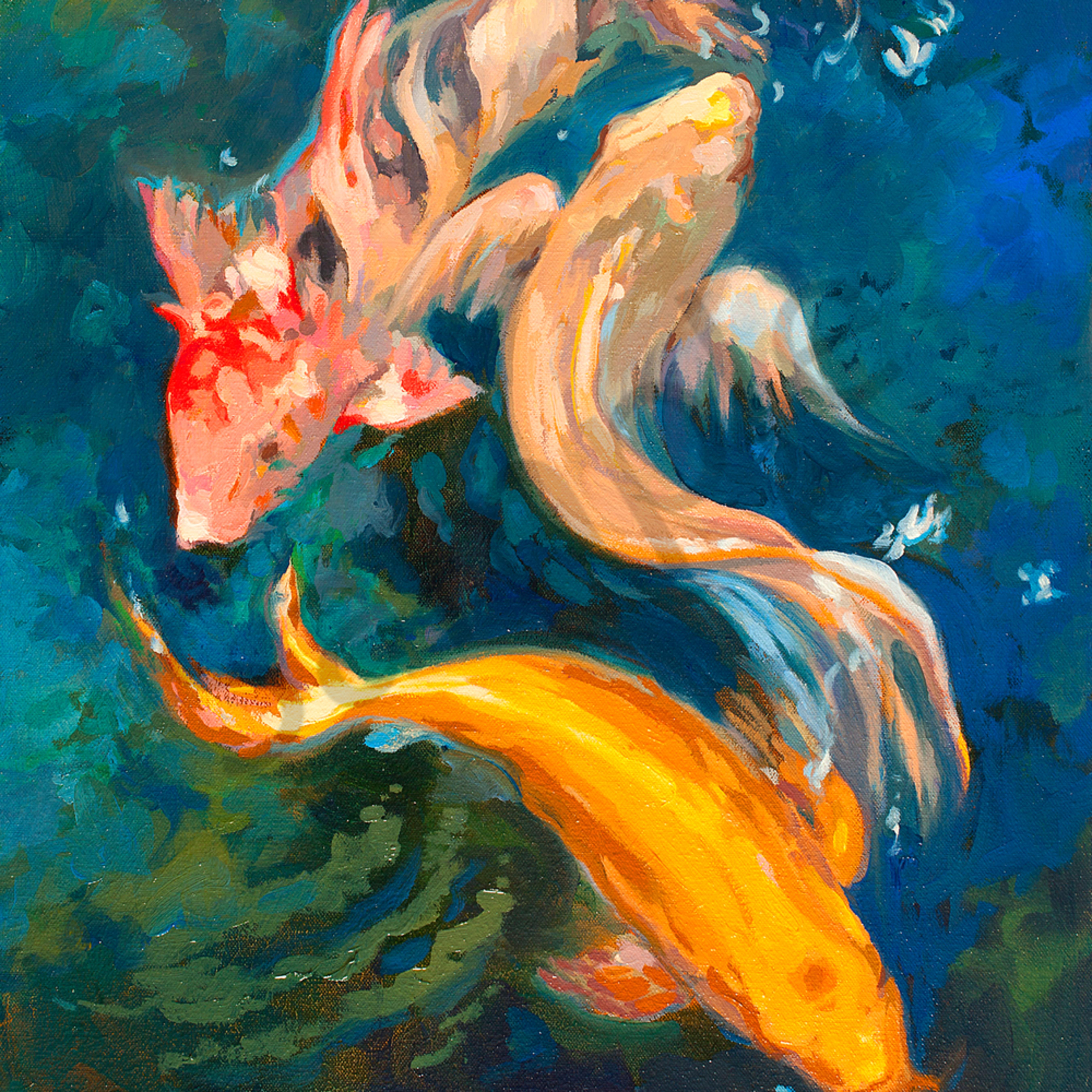 Creatures of color 18 22x24 22 oil cakr3j