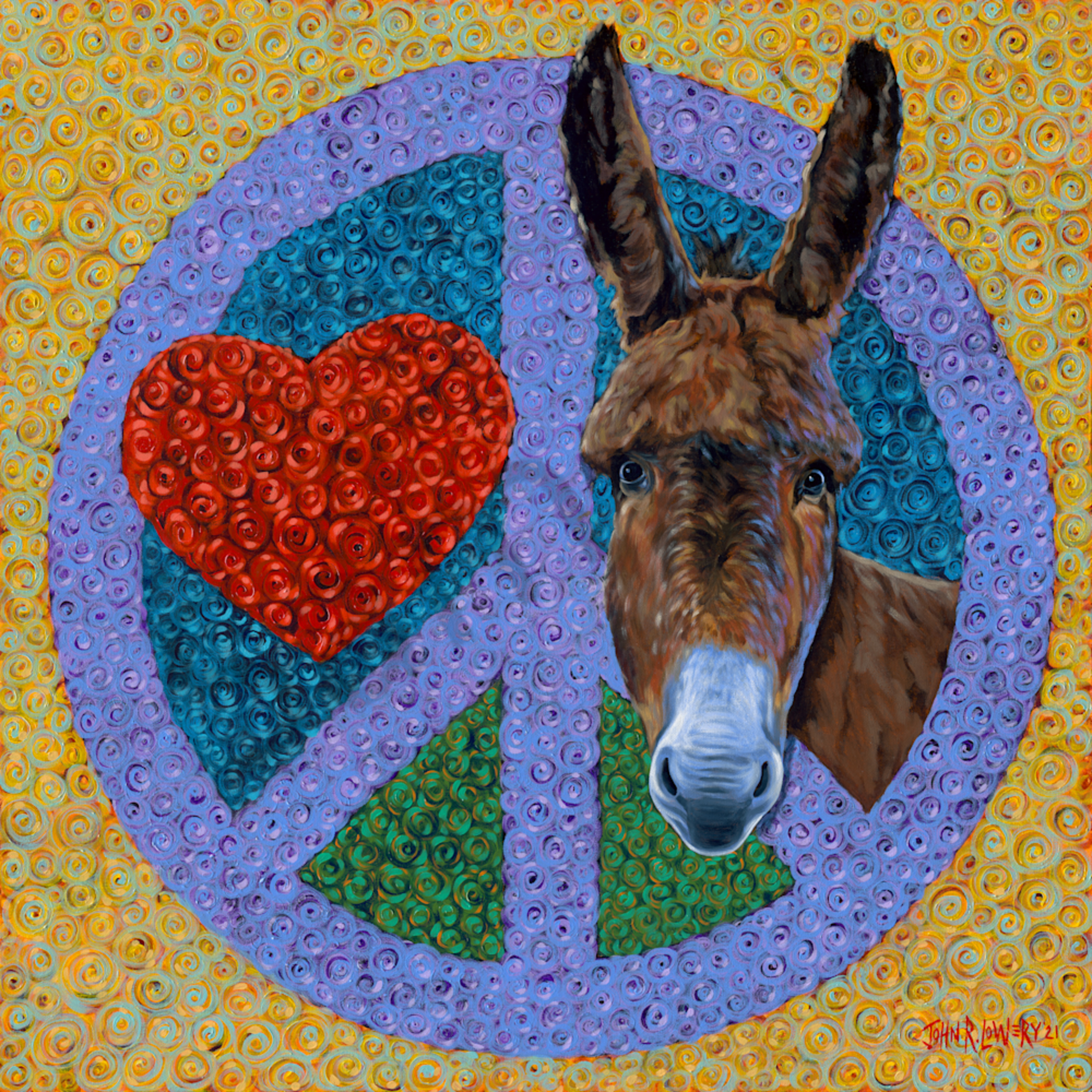 Asf   150dpipeace love donkey yfcblh