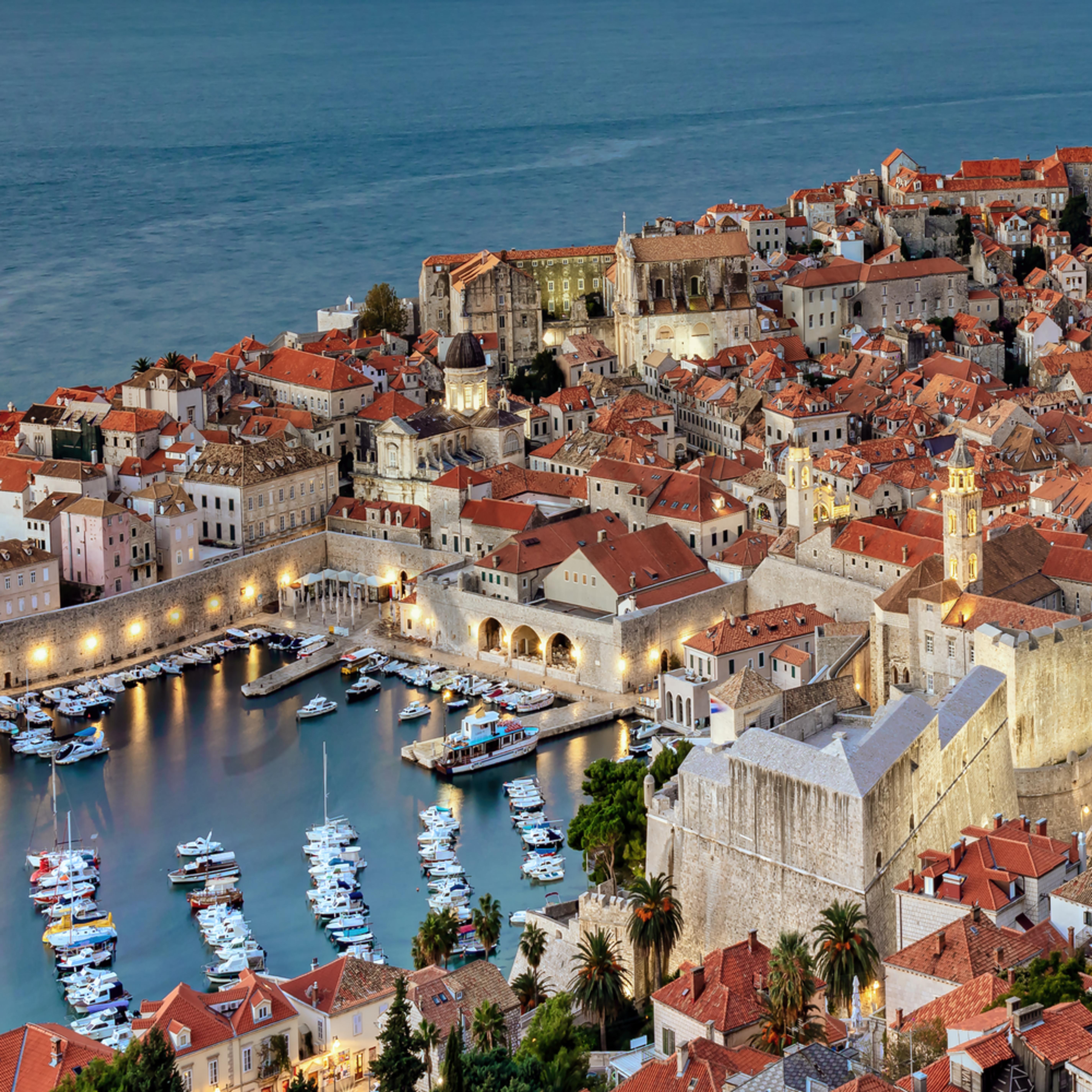 Dubrovnik croatia panoramic sunrise jdawni