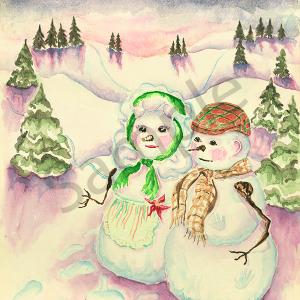 Snowmen in the gloaming pnschk