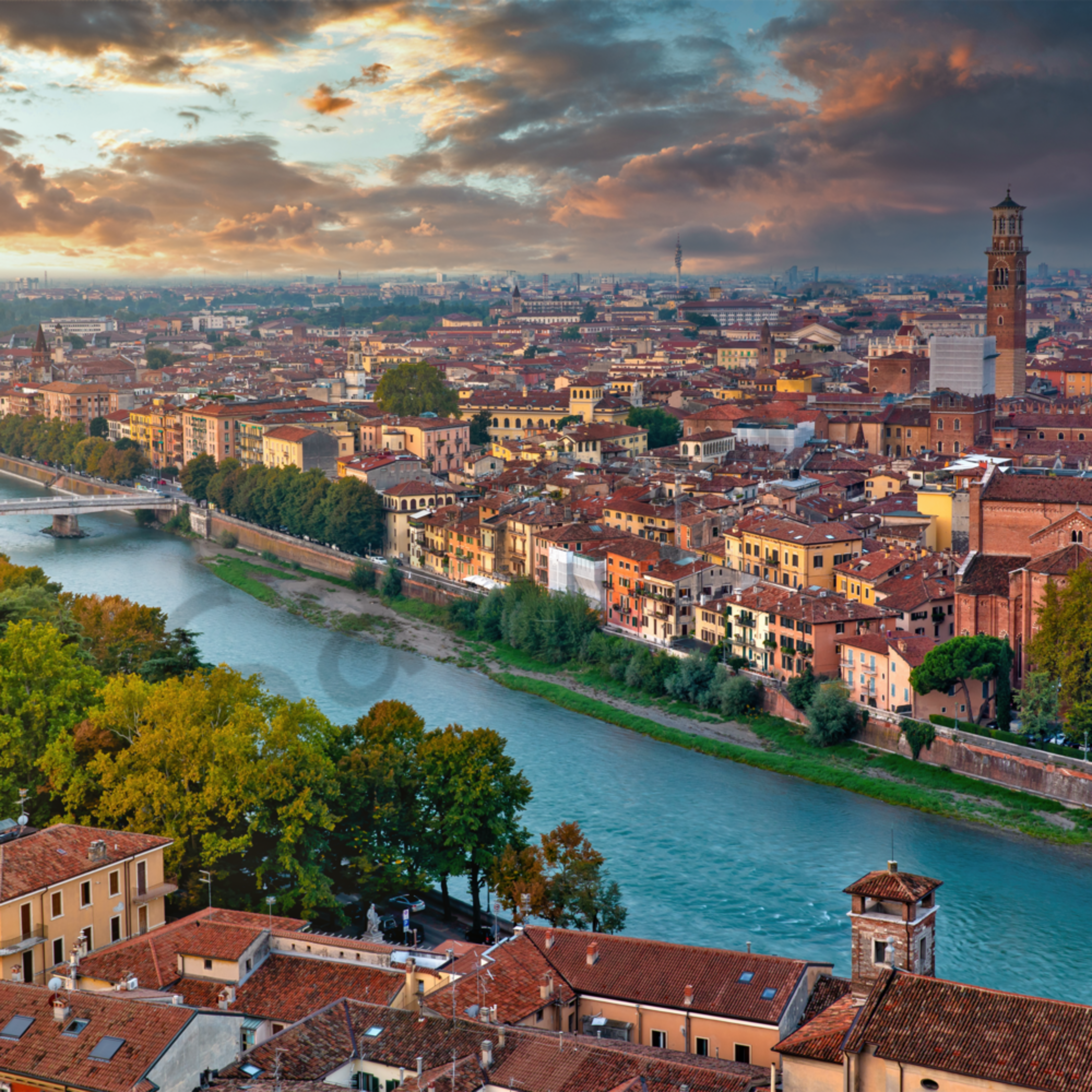 Verona from above pano sweep with lens italy rxlwi4