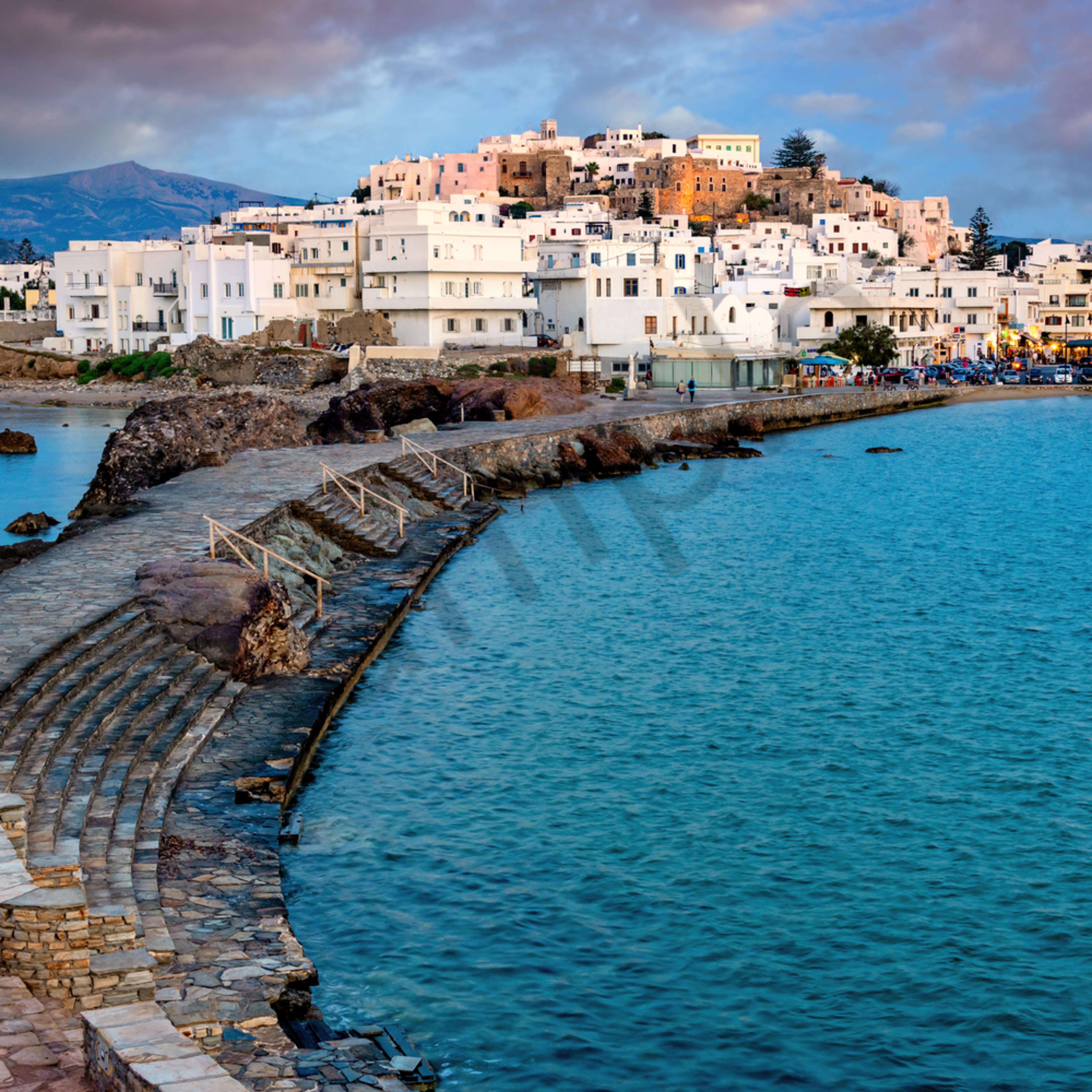 Naxos greece by waterfront b7hekp